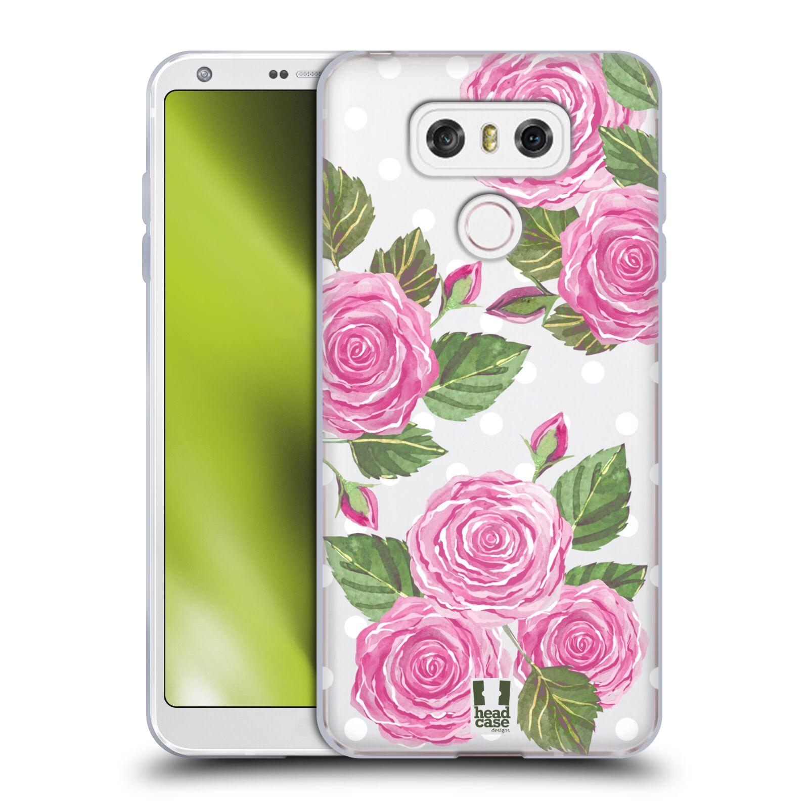 Silikonové pouzdro na mobil LG G6 - Head Case - Hezoučké růžičky - průhledné