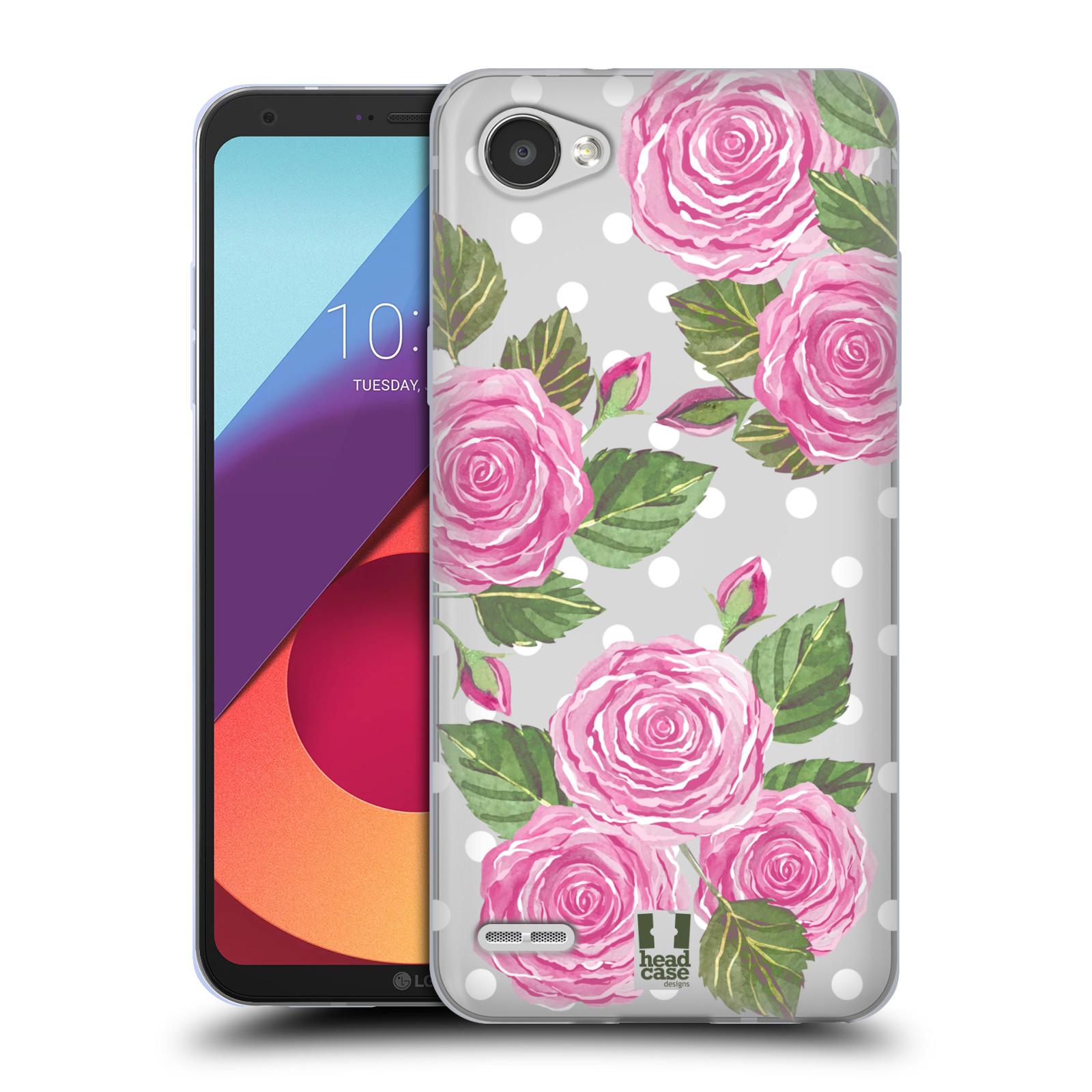 Silikonové pouzdro na mobil LG Q6 - Head Case - Hezoučké růžičky - průhledné