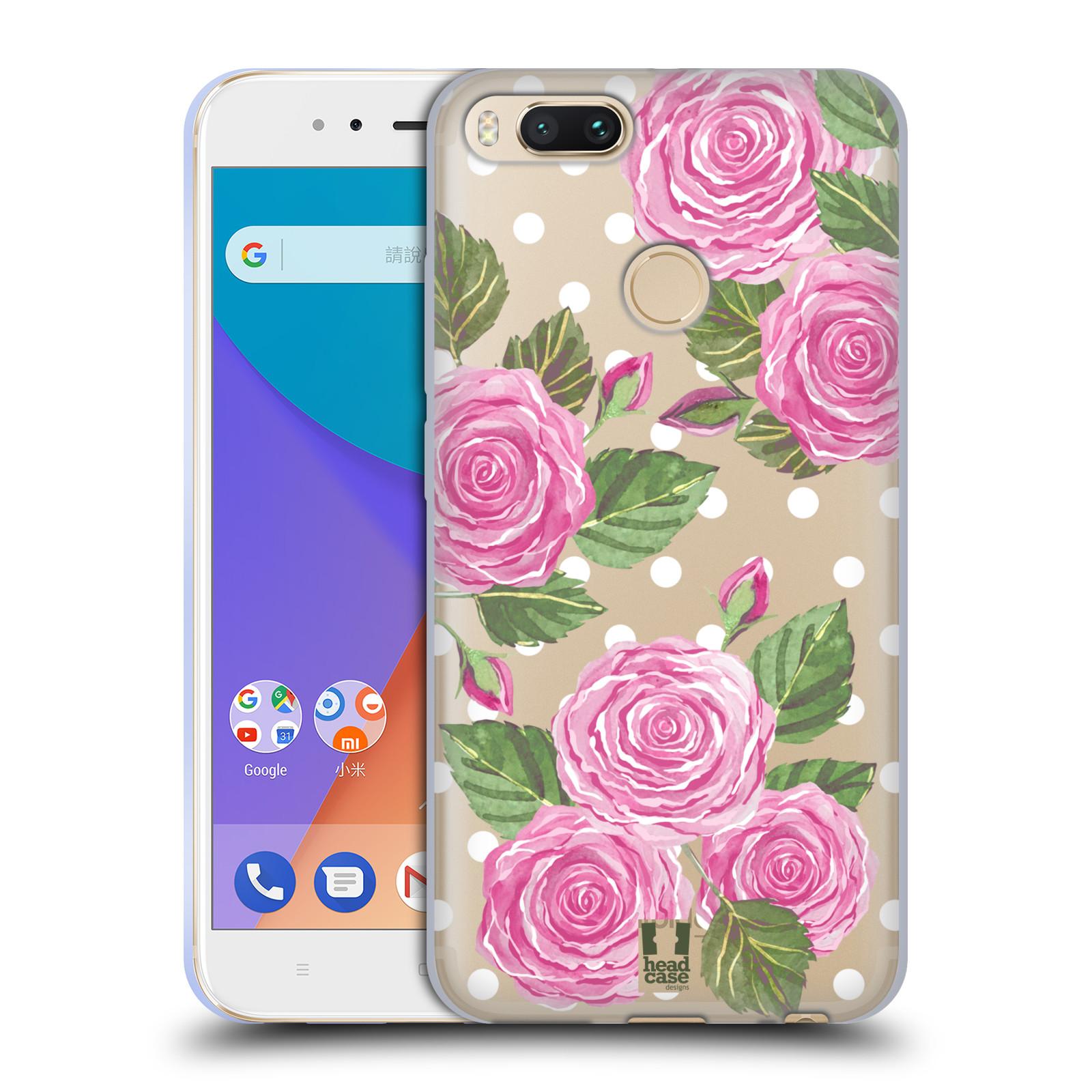 Silikonové pouzdro na mobil Xiaomi Mi A1 - Head Case - Hezoučké růžičky - průhledné