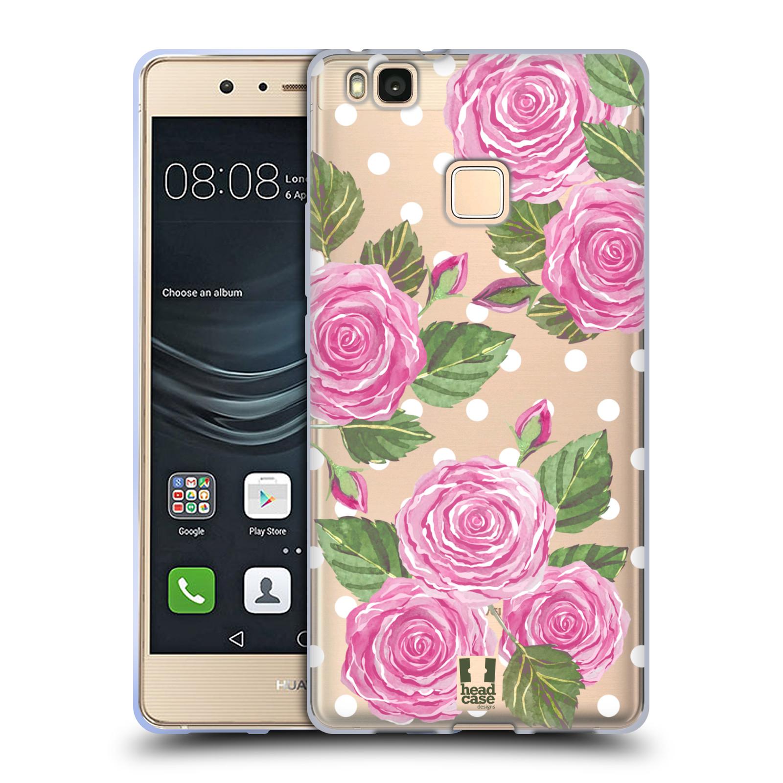 Silikonové pouzdro na mobil Huawei P9 Lite - Head Case - Hezoučké růžičky - průhledné