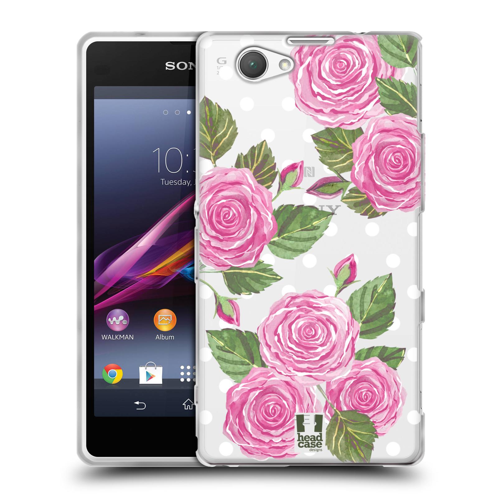 Silikonové pouzdro na mobil Sony Xperia Z1 Compact D5503 - Head Case - Hezoučké růžičky - průhledné