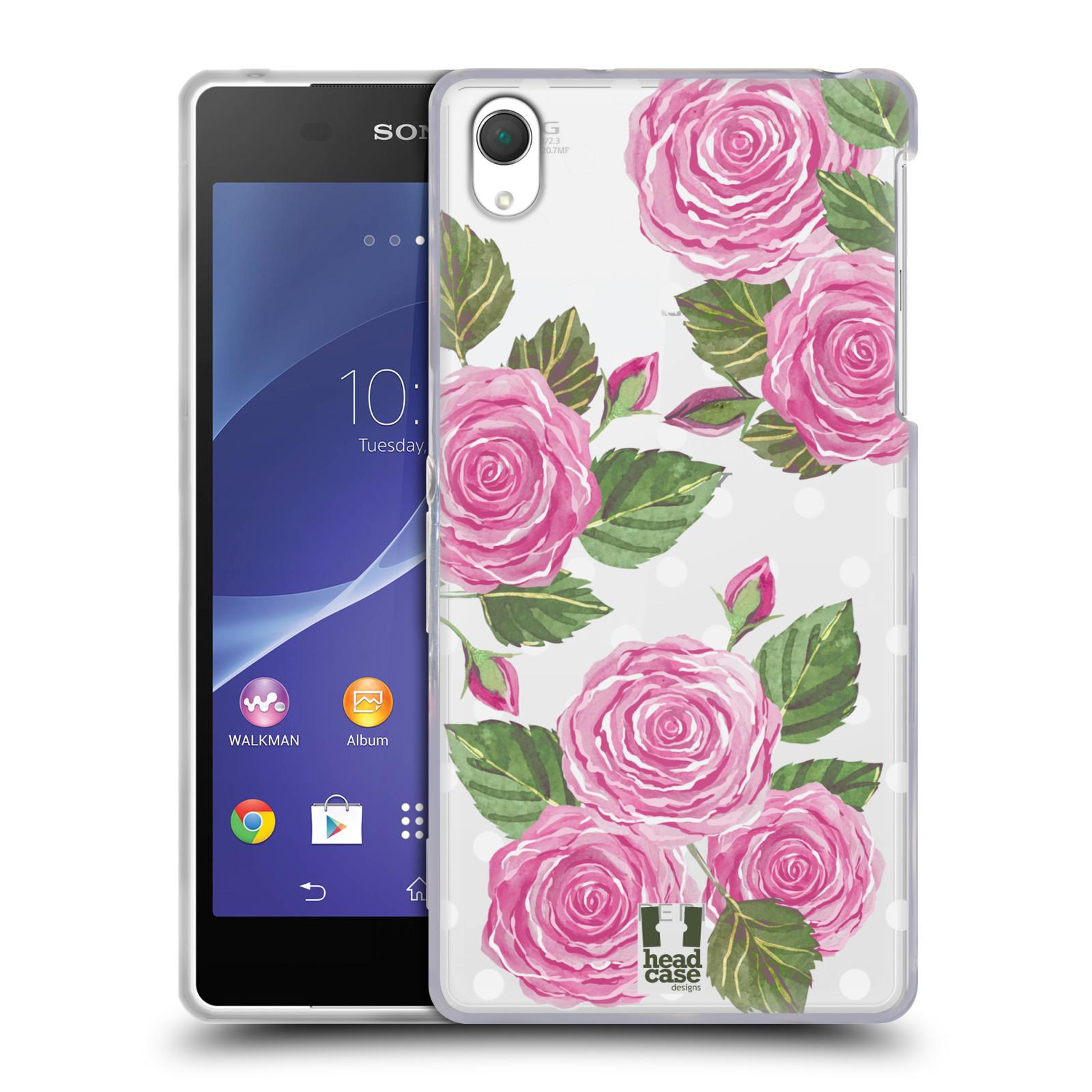 Silikonové pouzdro na mobil Sony Xperia Z2 D6503 - Head Case - Hezoučké růžičky - průhledné