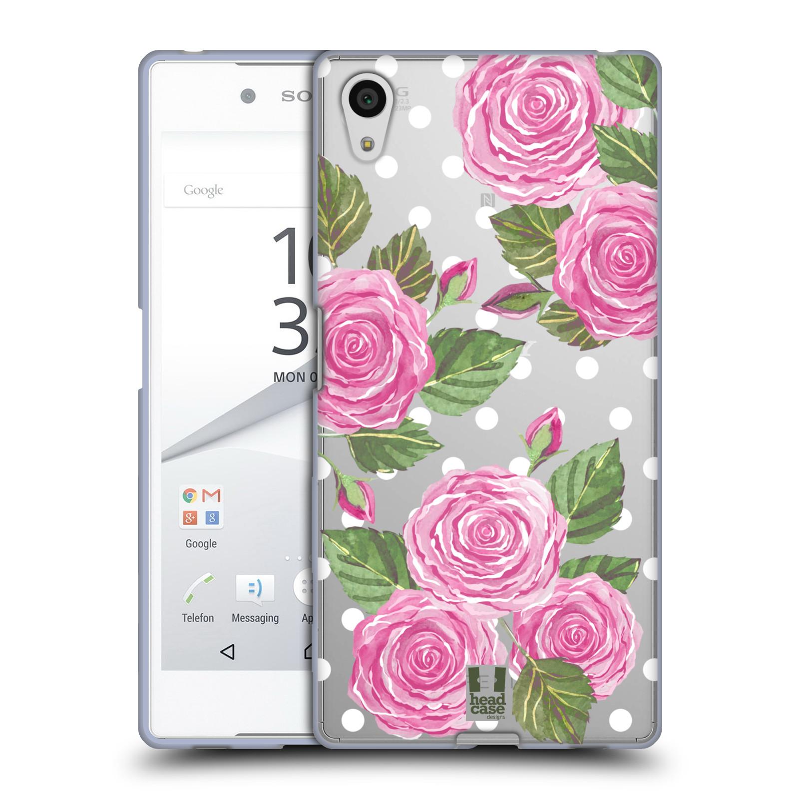 Silikonové pouzdro na mobil Sony Xperia Z5 - Head Case - Hezoučké růžičky - průhledné