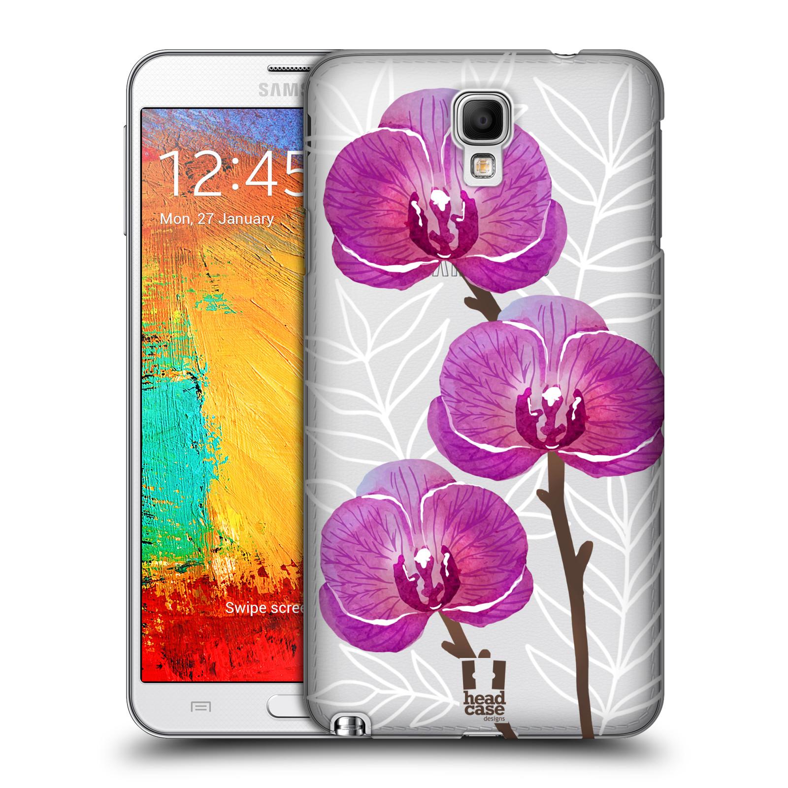 Plastové pouzdro na mobil Samsung Galaxy Note 3 Neo - Head Case - Hezoučké kvítky - průhledné