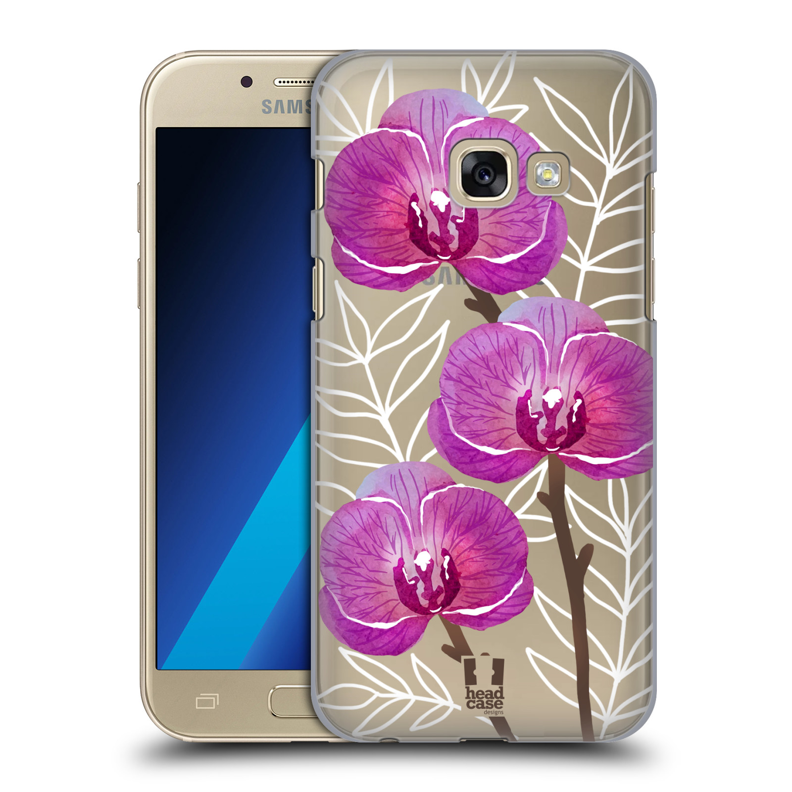 Plastové pouzdro na mobil Samsung Galaxy A3 (2017) - Head Case - Hezoučké kvítky - průhledné