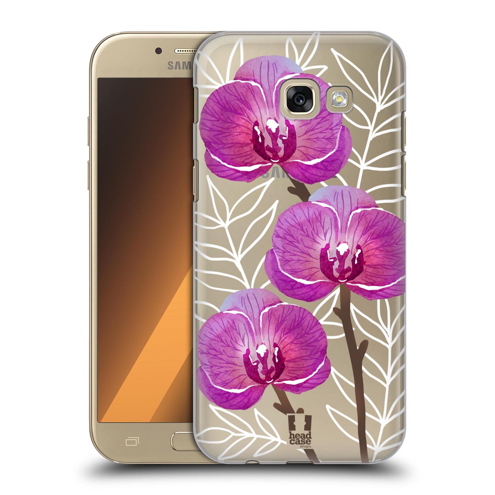 Plastové pouzdro na mobil Samsung Galaxy A5 (2017) - Head Case - Hezoučké kvítky - průhledné