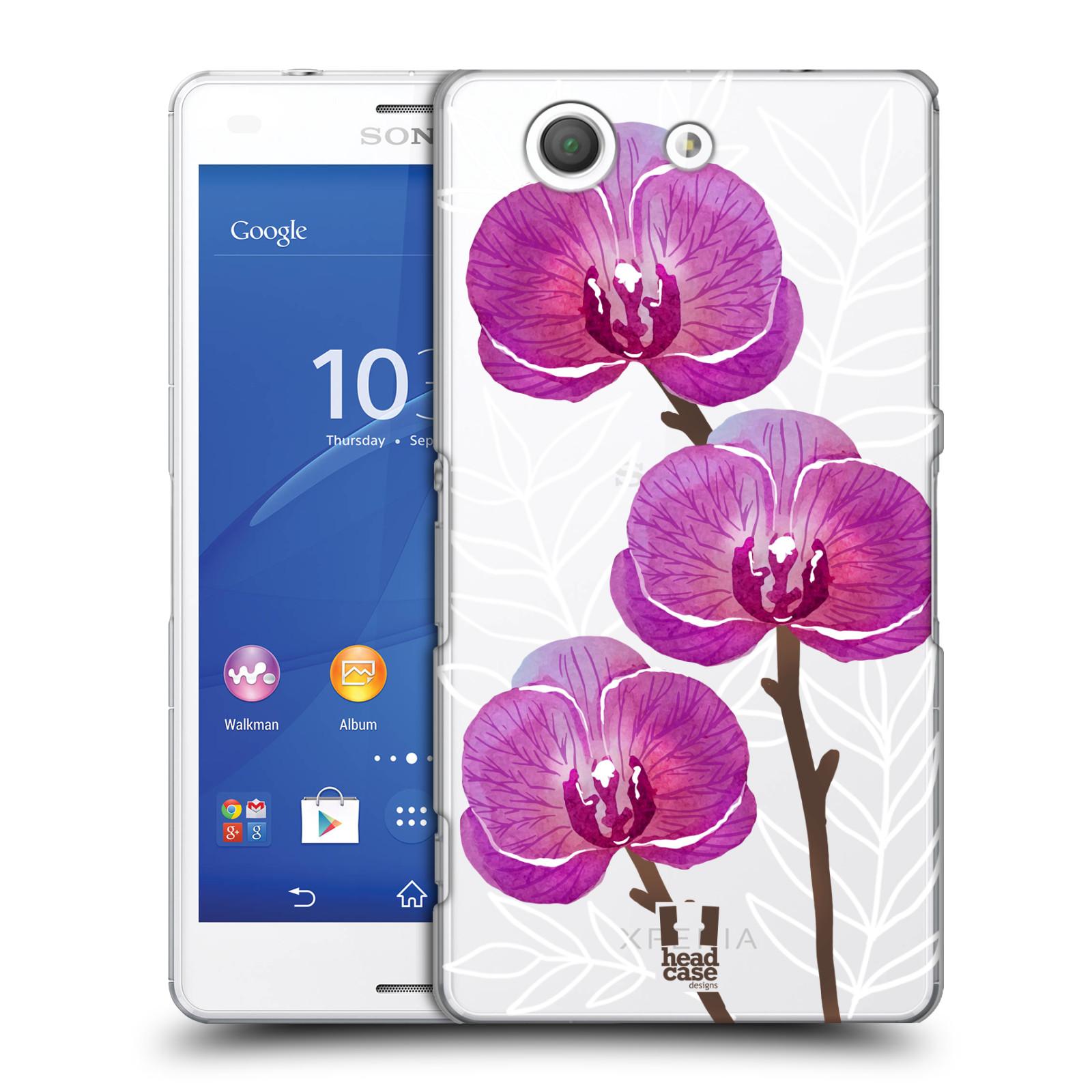 Plastové pouzdro na mobil Sony Xperia Z3 Compact D5803 - Head Case - Hezoučké kvítky - průhledné