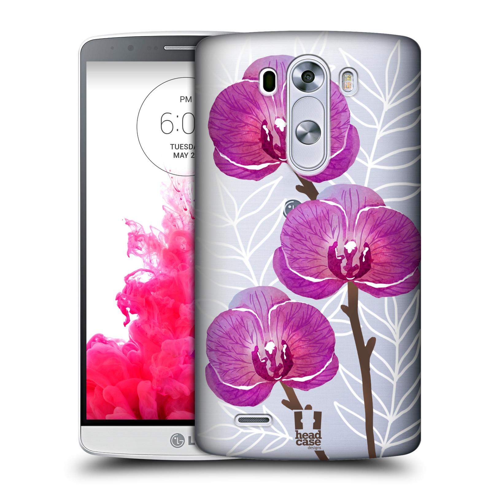Plastové pouzdro na mobil LG G3 - Head Case - Hezoučké kvítky - průhledné