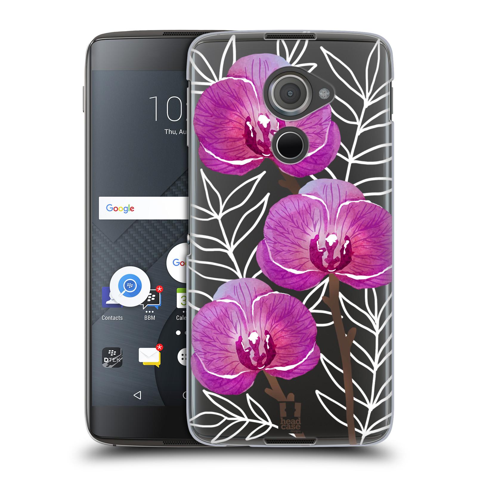 Plastové pouzdro na mobil Blackberry DTEK60 (Argon) - Head Case - Hezoučké kvítky - průhledné
