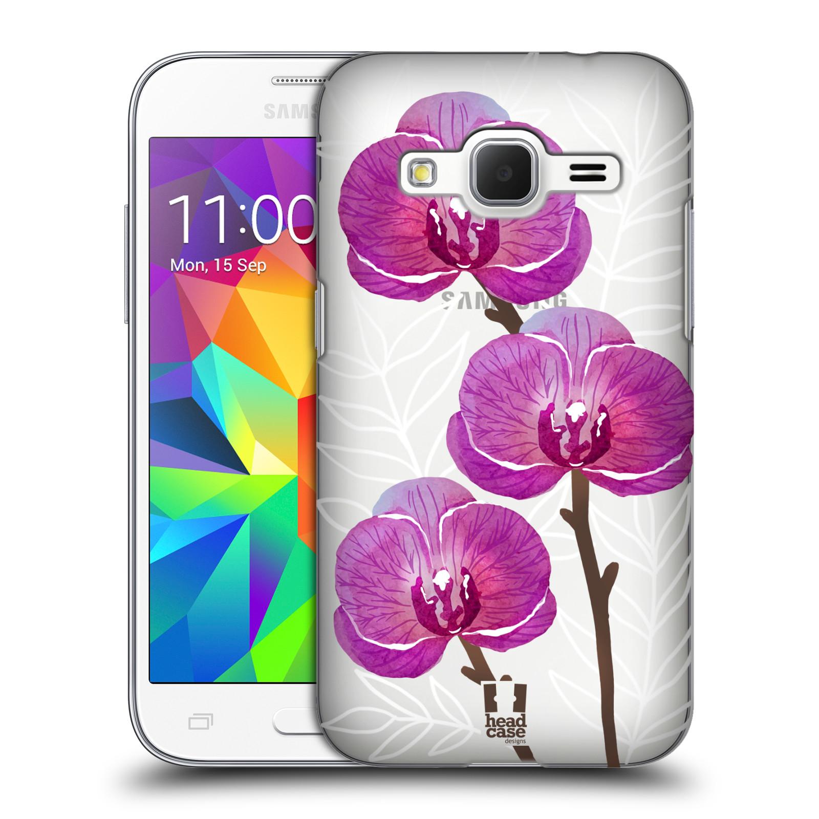 Plastové pouzdro na mobil Samsung Galaxy Core Prime LTE - Head Case - Hezoučké kvítky - průhledné