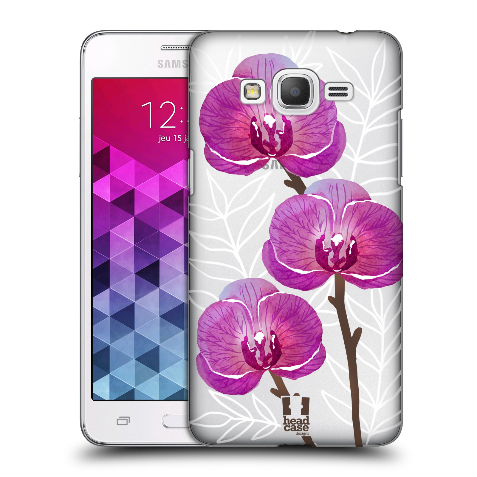 Plastové pouzdro na mobil Samsung Galaxy Grand Prime VE - Head Case - Hezoučké kvítky - průhledné