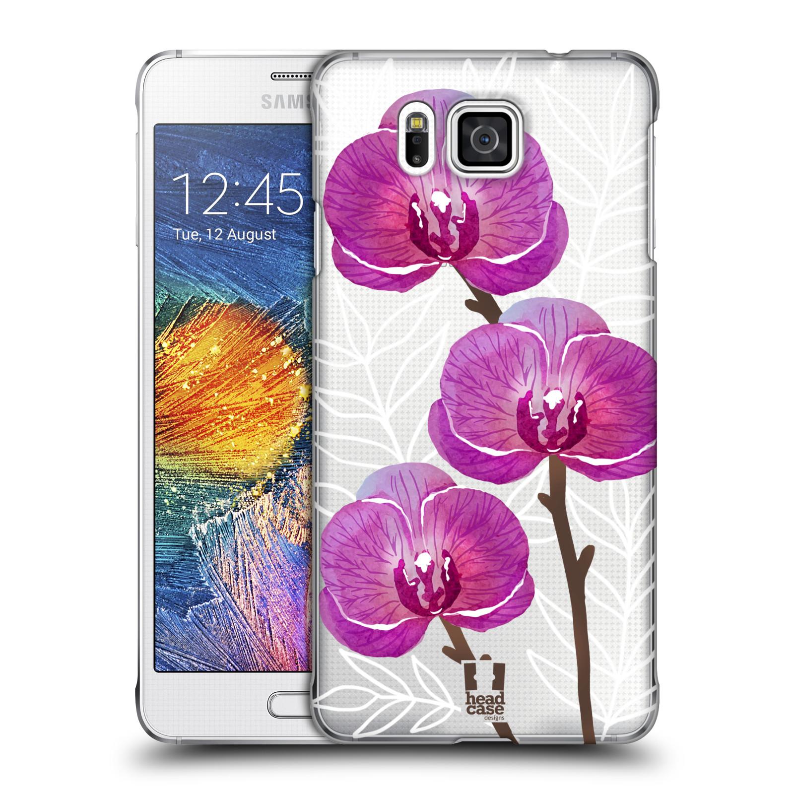 Plastové pouzdro na mobil Samsung Galaxy Alpha - Head Case - Hezoučké kvítky - průhledné