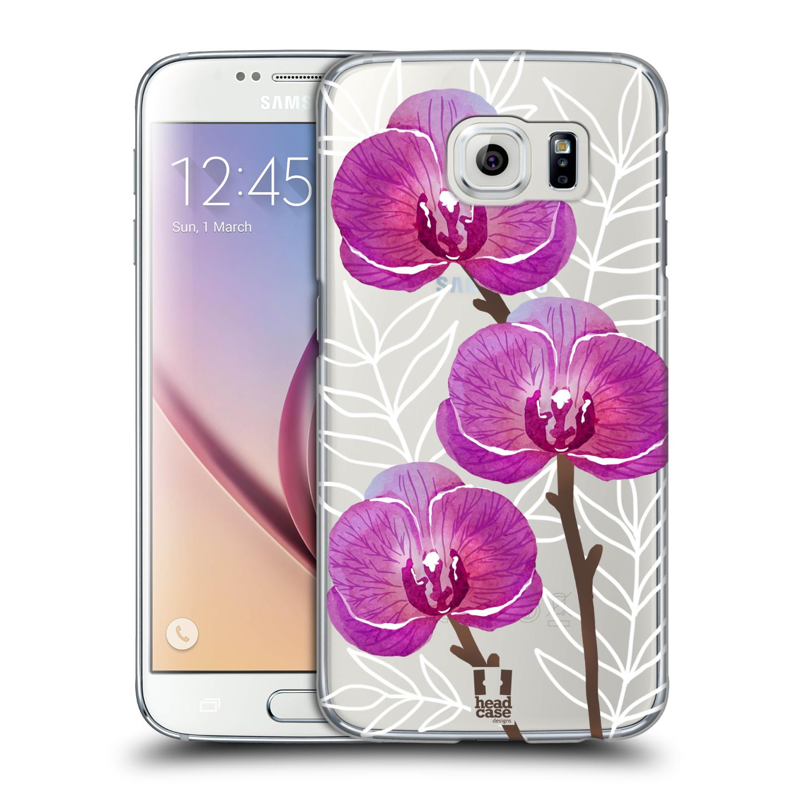 Plastové pouzdro na mobil Samsung Galaxy S6 - Head Case - Hezoučké kvítky - průhledné