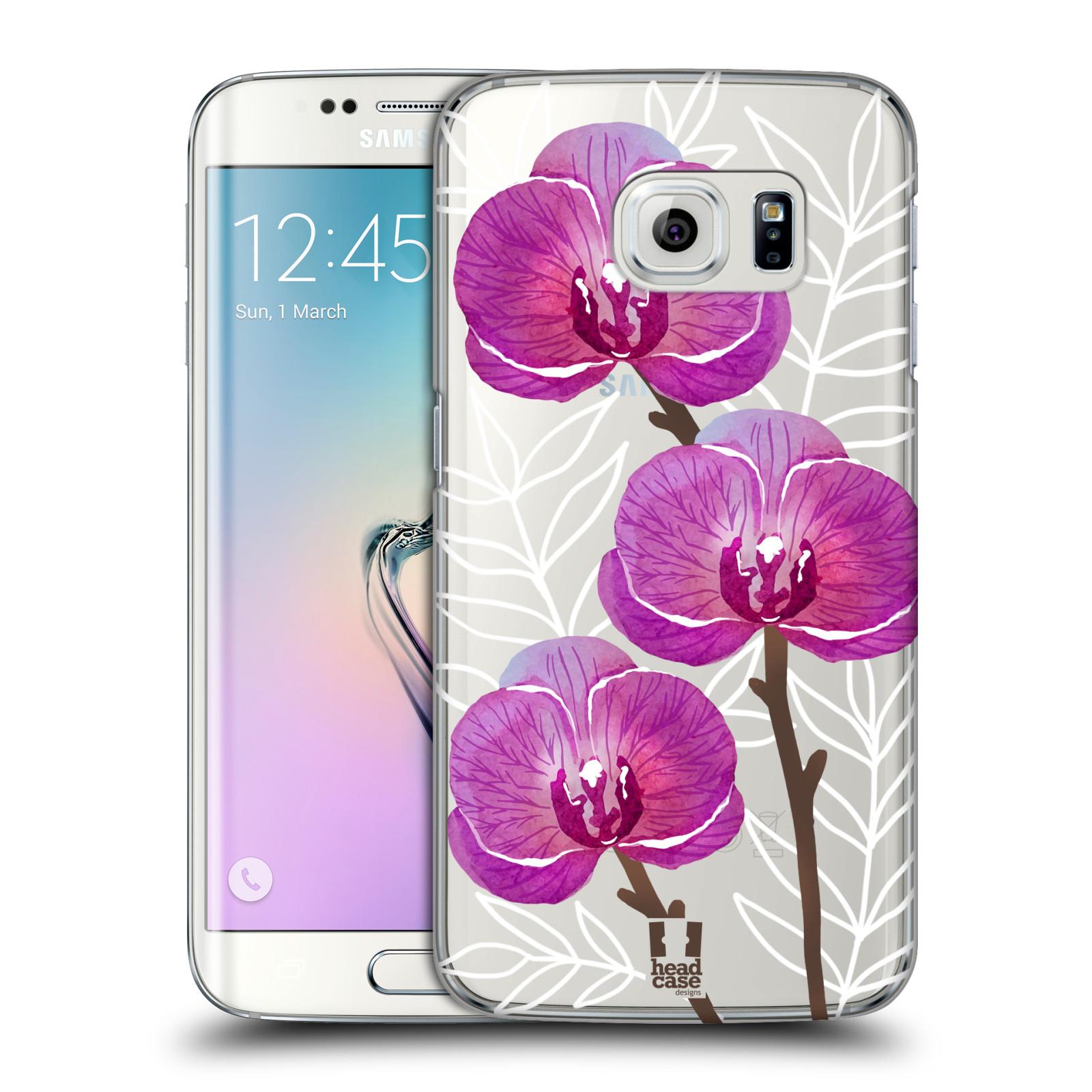 Plastové pouzdro na mobil Samsung Galaxy S6 Edge - Head Case - Hezoučké kvítky - průhledné