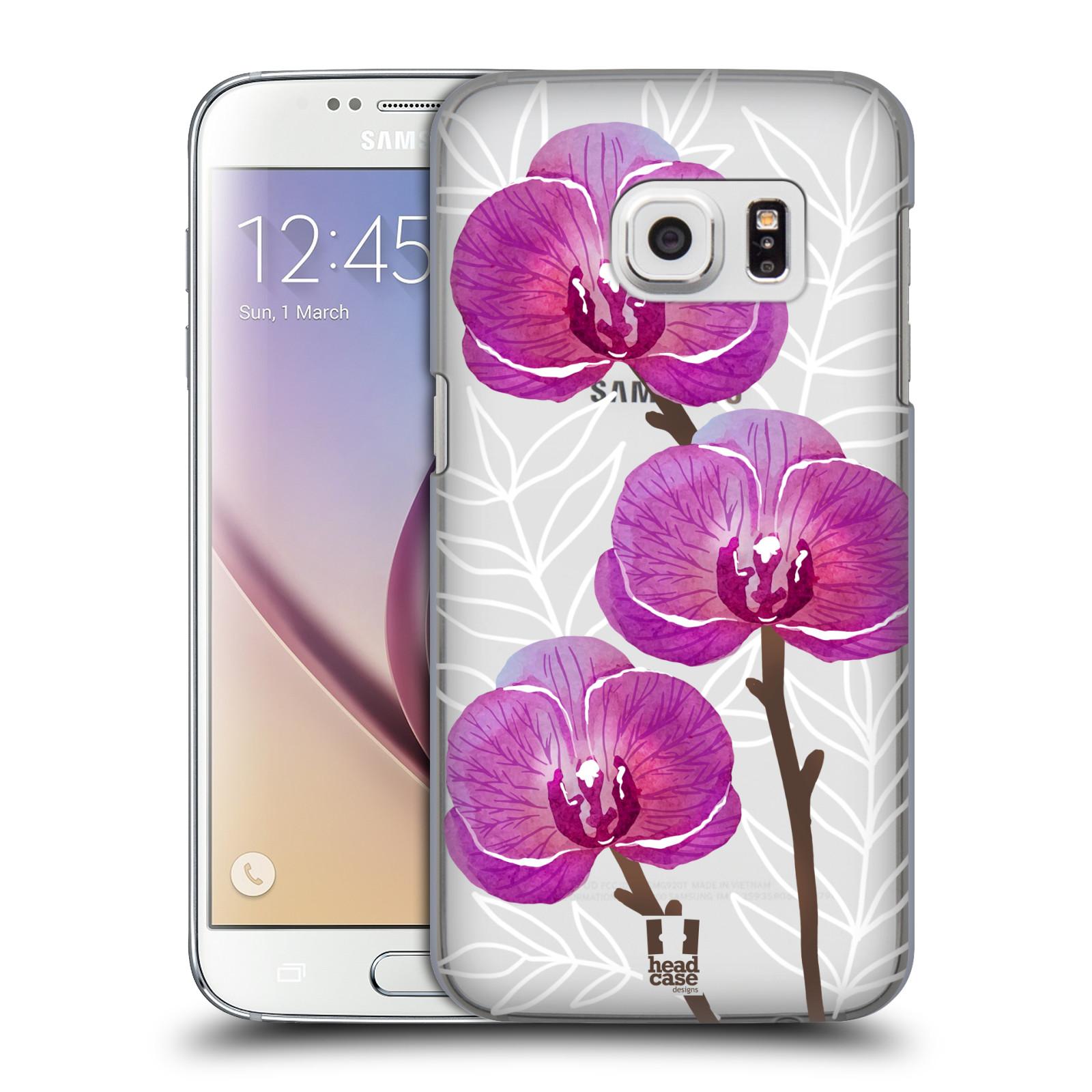 Plastové pouzdro na mobil Samsung Galaxy S7 - Head Case - Hezoučké kvítky - průhledné