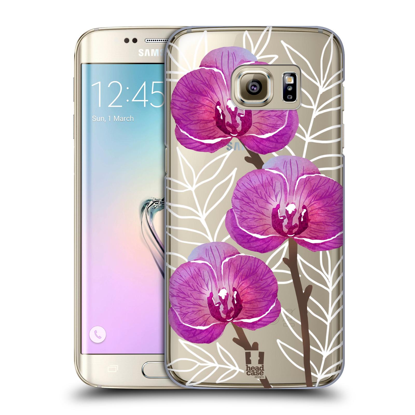 Plastové pouzdro na mobil Samsung Galaxy S7 Edge - Head Case - Hezoučké kvítky - průhledné
