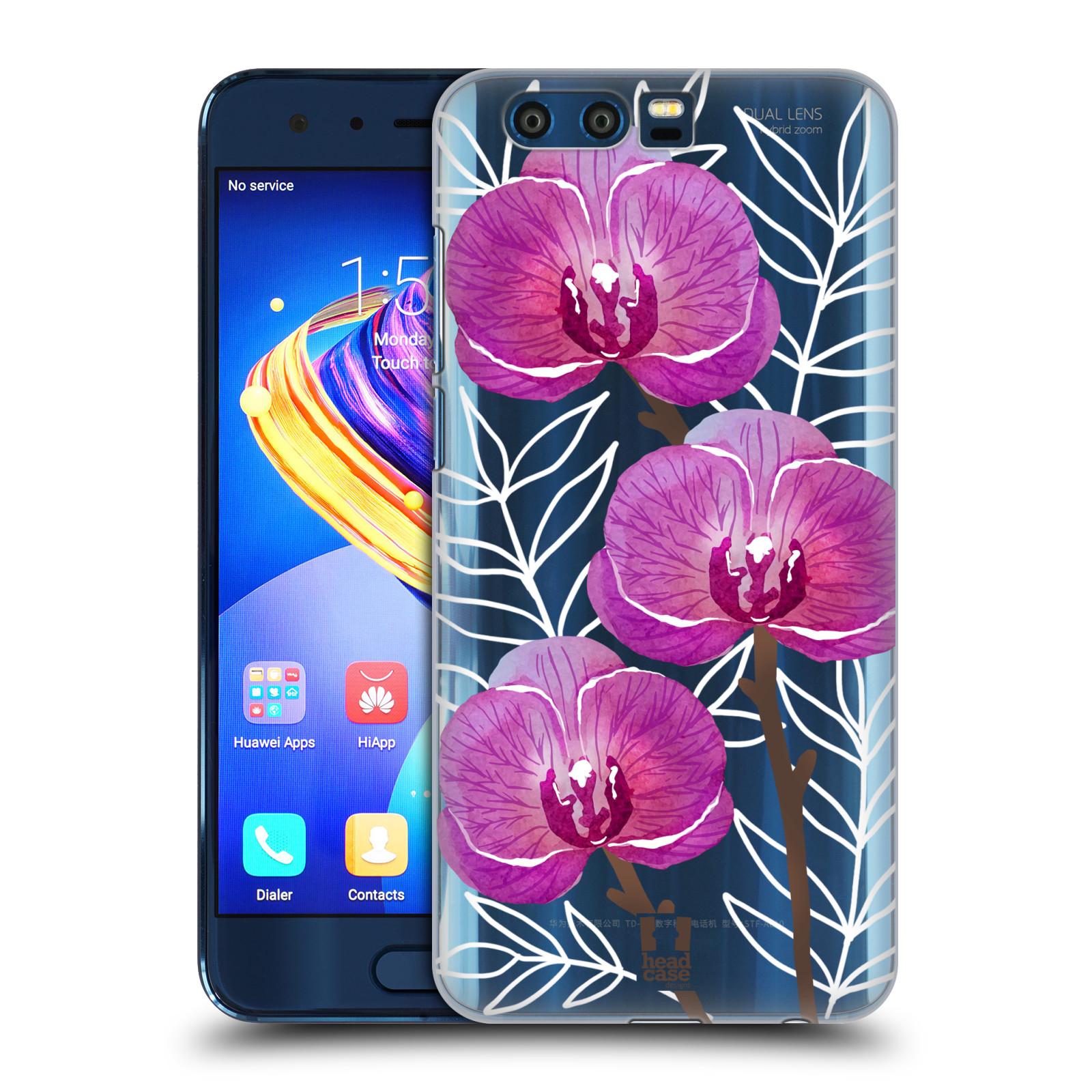 Plastové pouzdro na mobil Honor 9 - Head Case - Hezoučké kvítky - průhledné