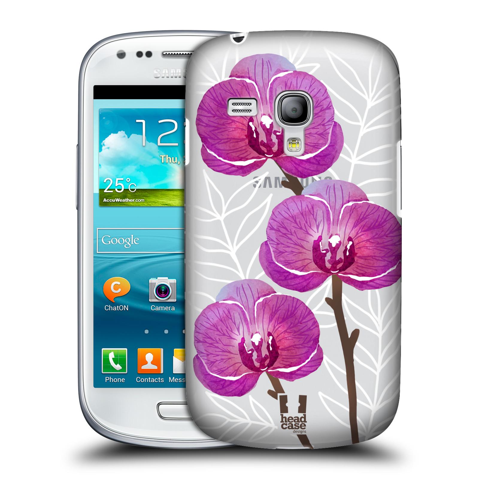 Plastové pouzdro na mobil Samsung Galaxy S III Mini - Head Case - Hezoučké kvítky - průhledné