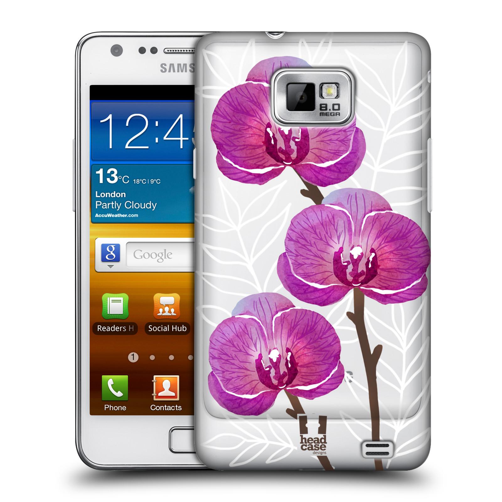 Plastové pouzdro na mobil Samsung Galaxy S II - Head Case - Hezoučké kvítky - průhledné