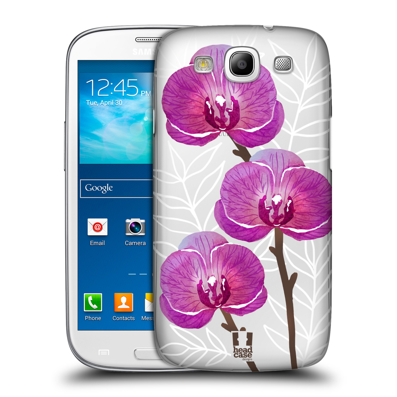 Plastové pouzdro na mobil Samsung Galaxy S III - Head Case - Hezoučké kvítky - průhledné