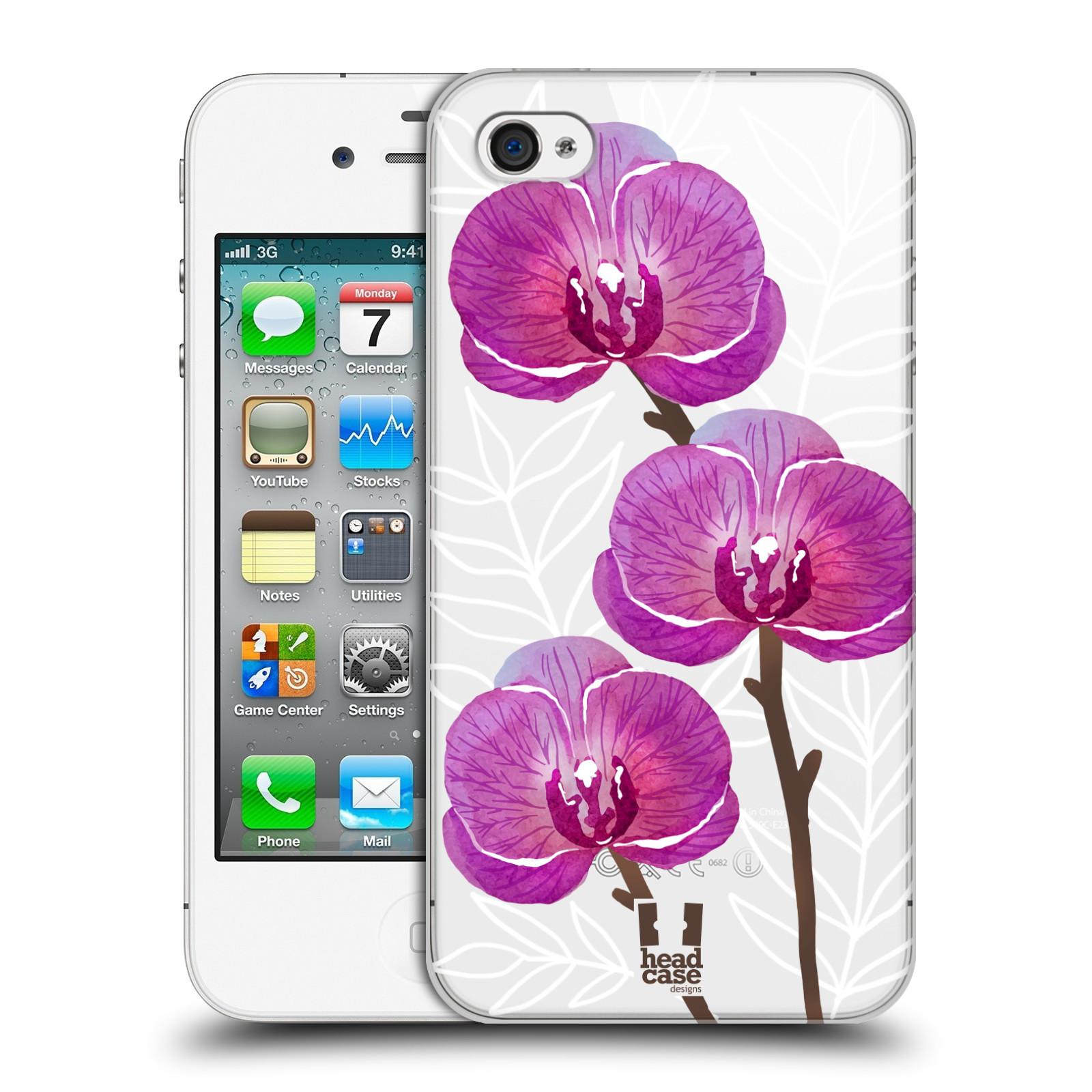 Plastové pouzdro na mobil Apple iPhone 4 a 4S - Head Case - Hezoučké kvítky - průhledné