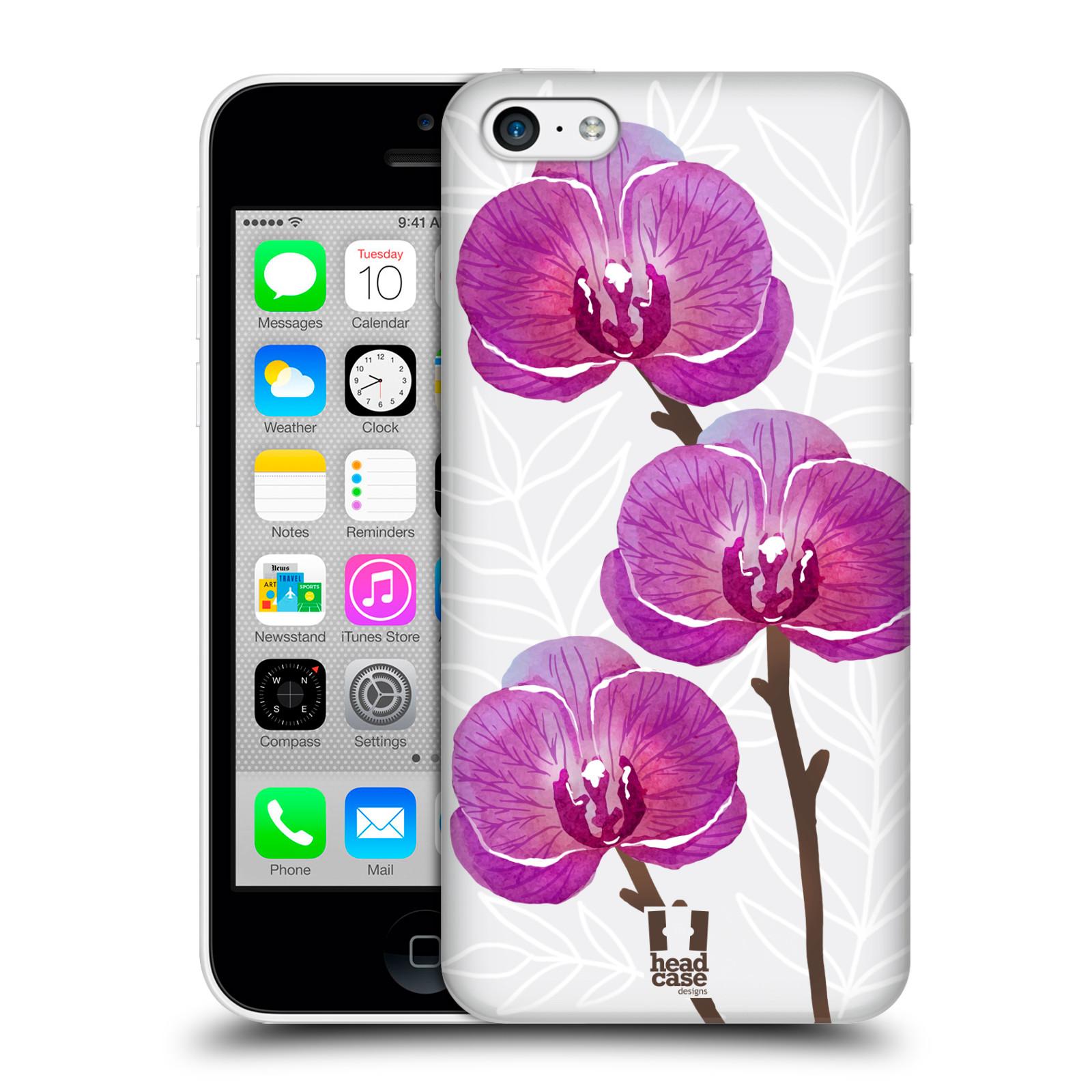 Plastové pouzdro na mobil Apple iPhone 5C - Head Case - Hezoučké kvítky - průhledné