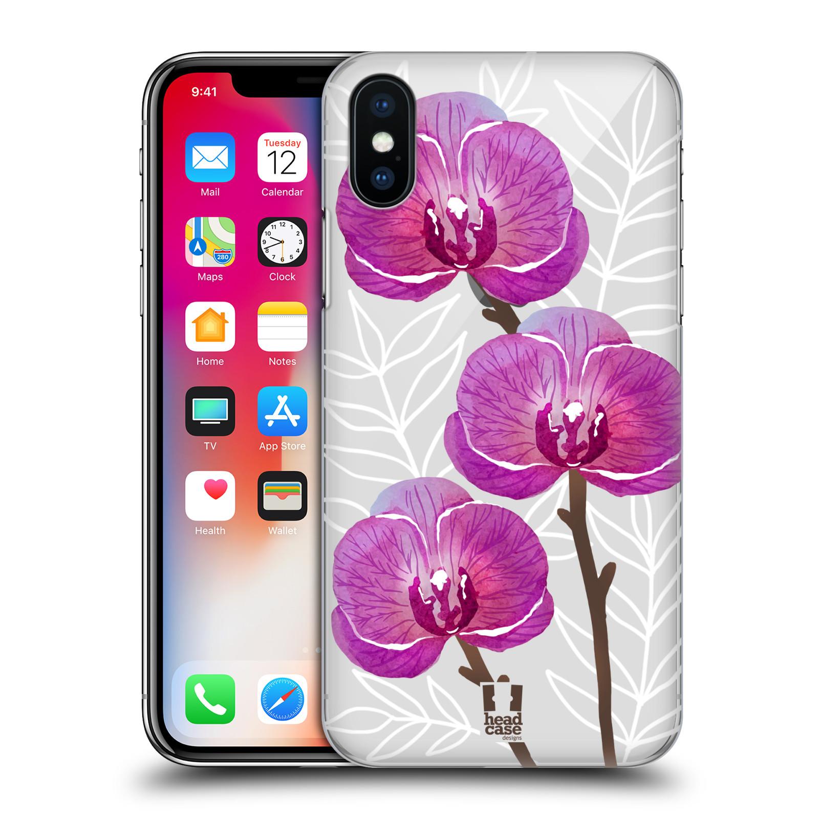 Plastové pouzdro na mobil Apple iPhone X- Head Case - Hezoučké kvítky - průhledné