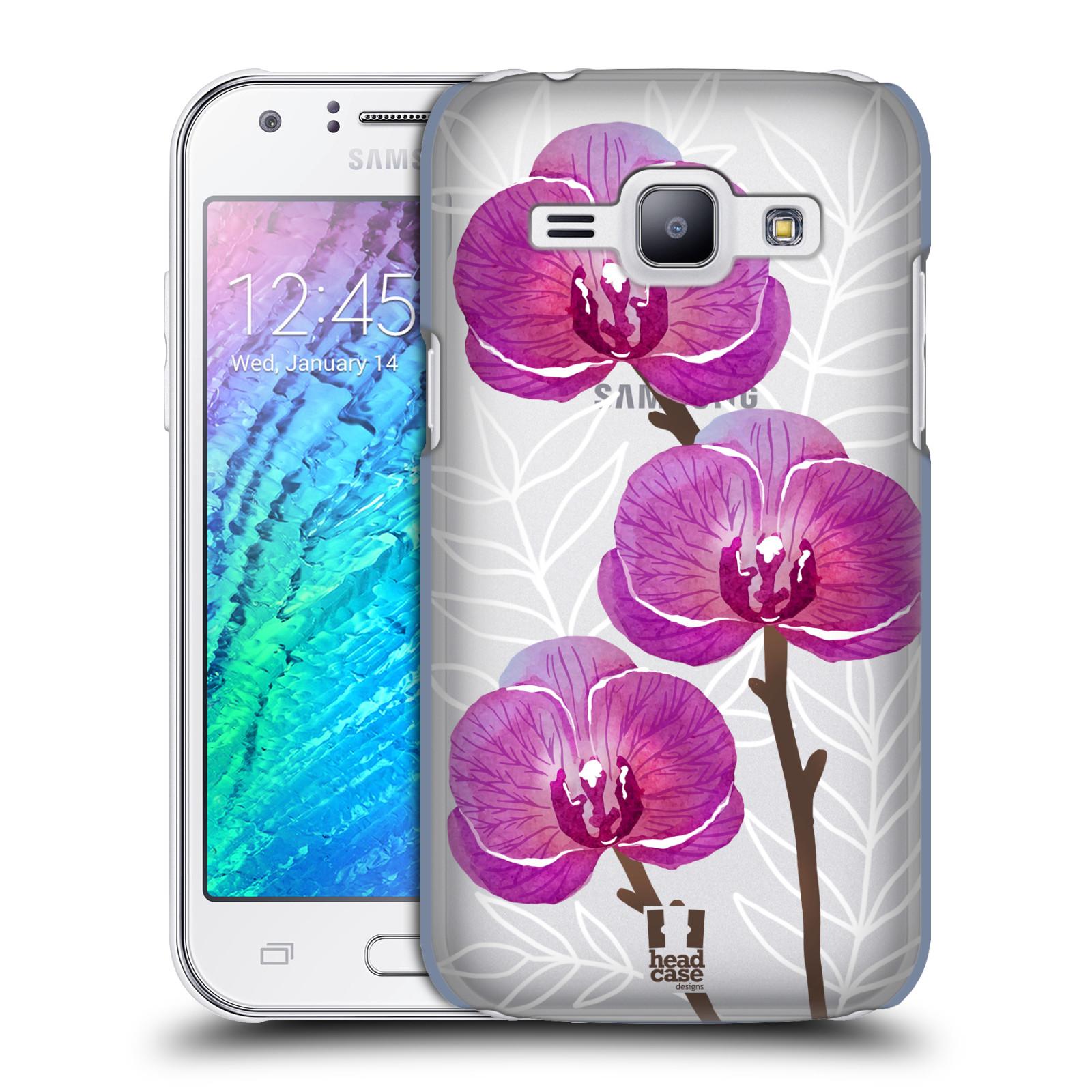 Plastové pouzdro na mobil Samsung Galaxy J1 - Head Case - Hezoučké kvítky - průhledné