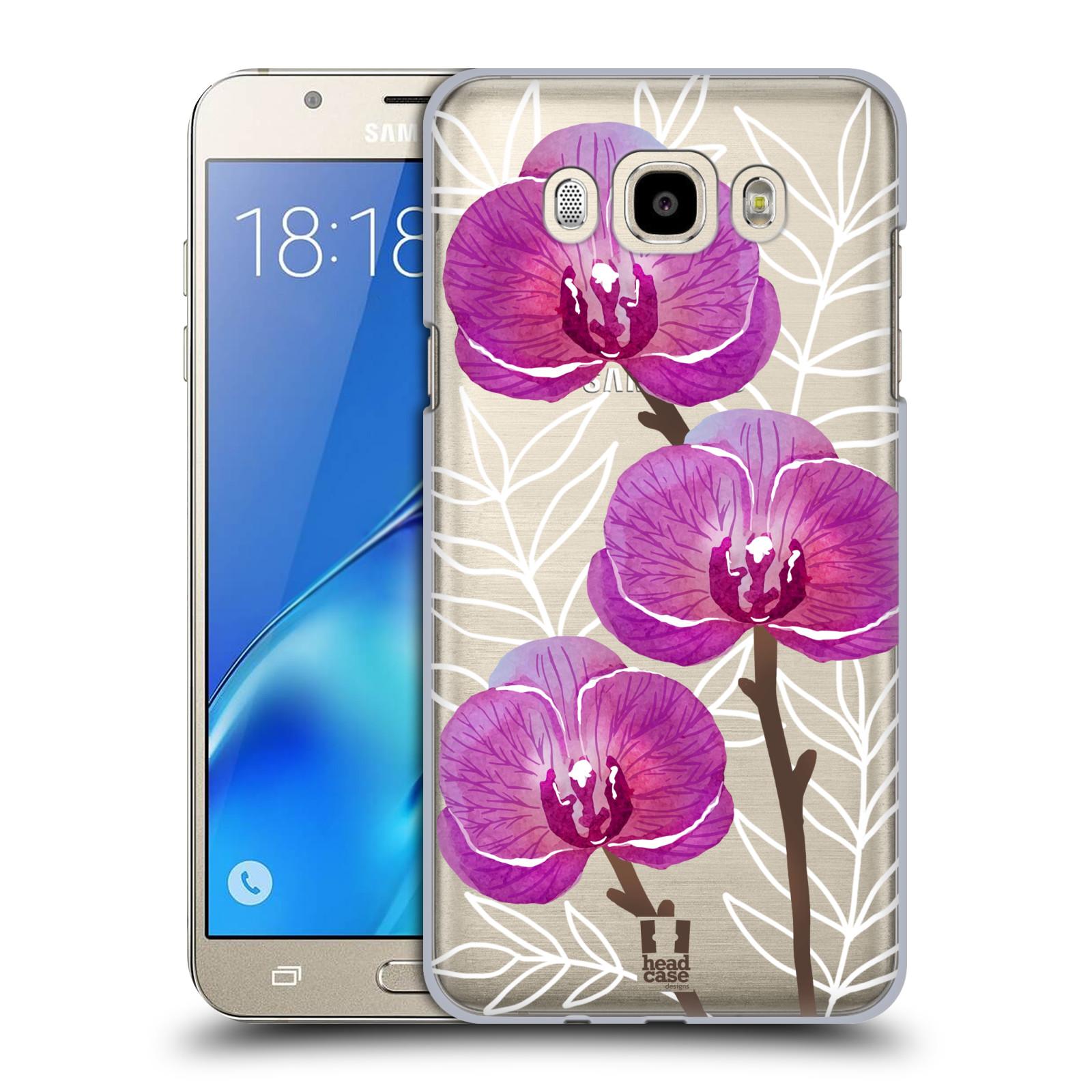 Plastové pouzdro na mobil Samsung Galaxy J7 (2016) - Head Case - Hezoučké kvítky - průhledné