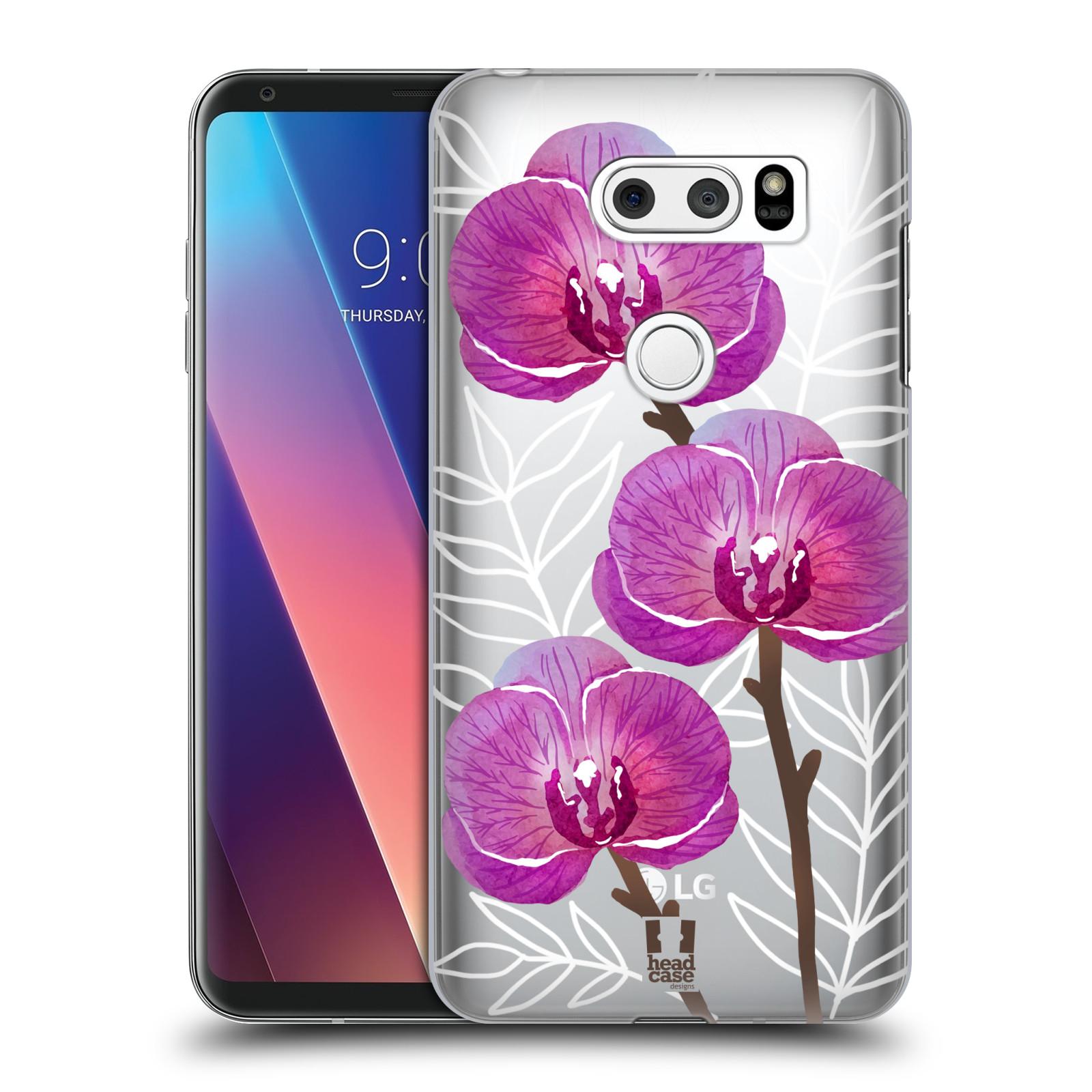 Plastové pouzdro na mobil LG V30 - Head Case - Hezoučké kvítky - průhledné