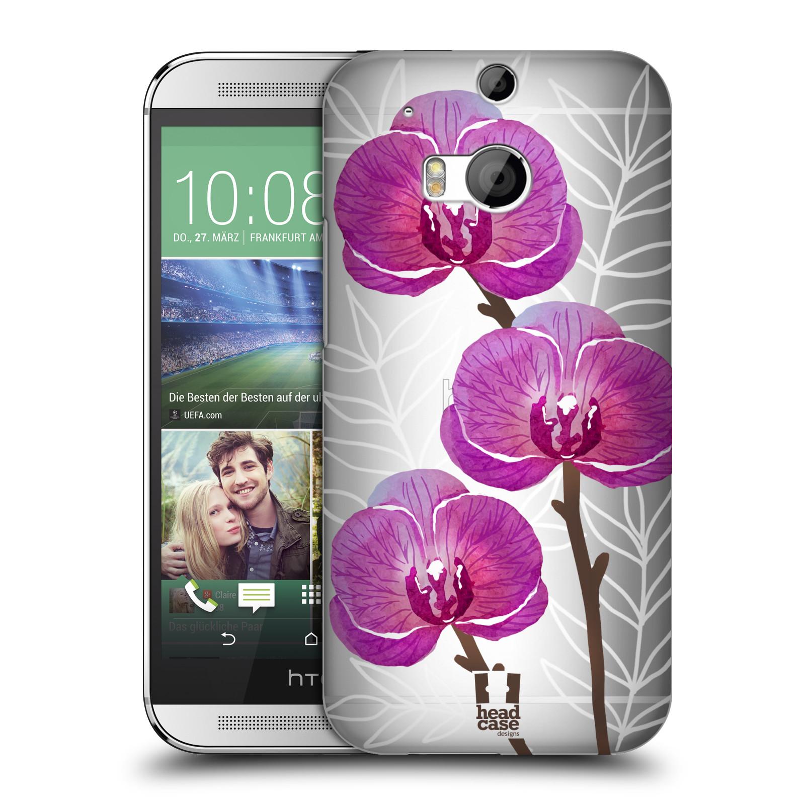 Plastové pouzdro na mobil HTC ONE M8 - Head Case - Hezoučké kvítky - průhledné