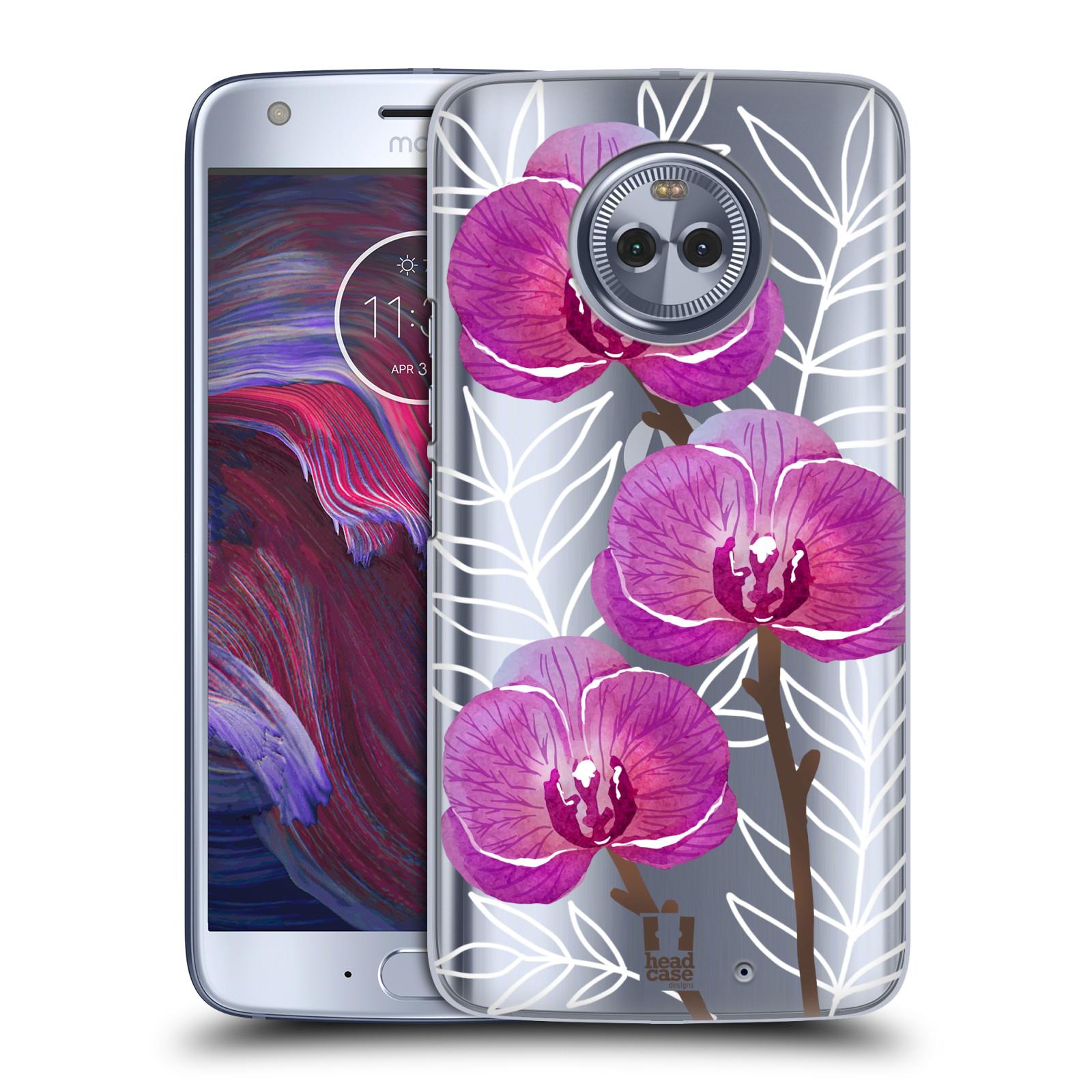 Plastové pouzdro na mobil Lenovo Moto X4 - Head Case - Hezoučké kvítky - průhledné