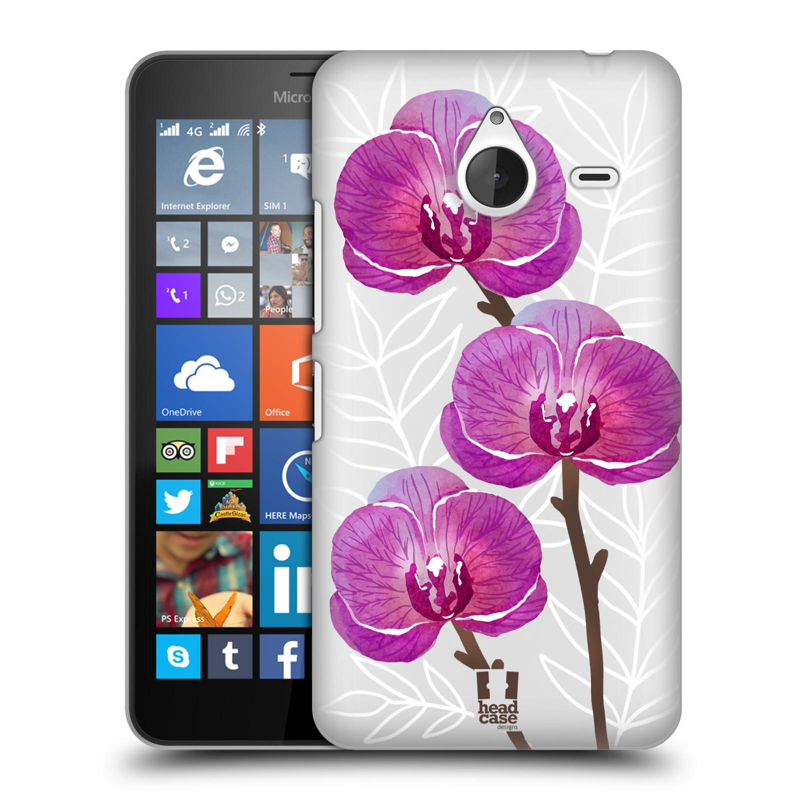 Plastové pouzdro na mobil Microsoft Lumia 640 XL - Head Case - Hezoučké kvítky - průhledné