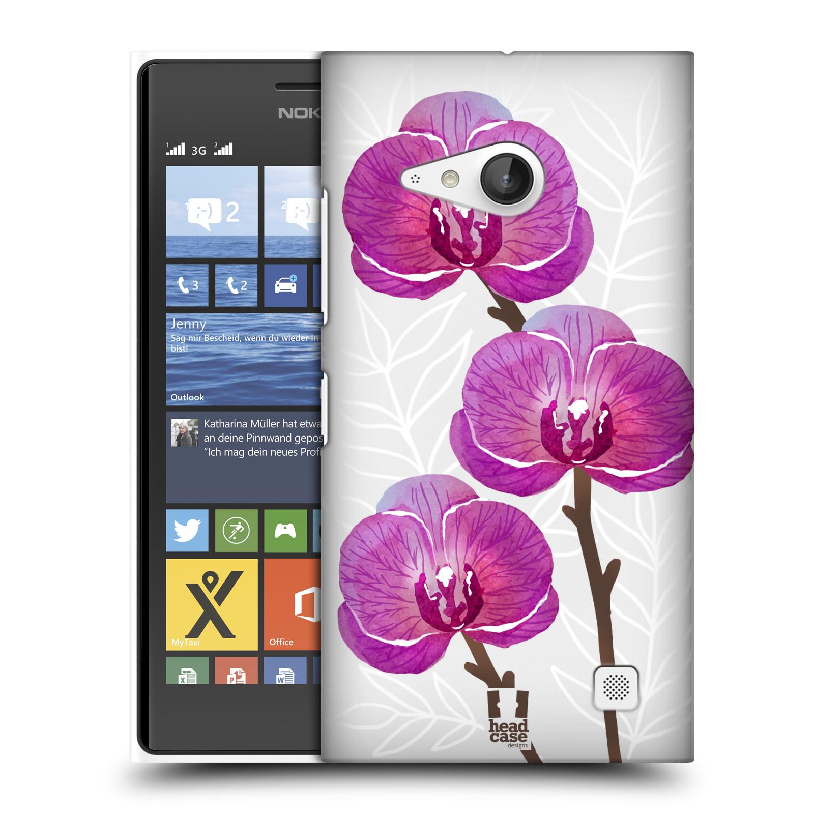 Plastové pouzdro na mobil Nokia Lumia 735 - Head Case - Hezoučké kvítky - průhledné