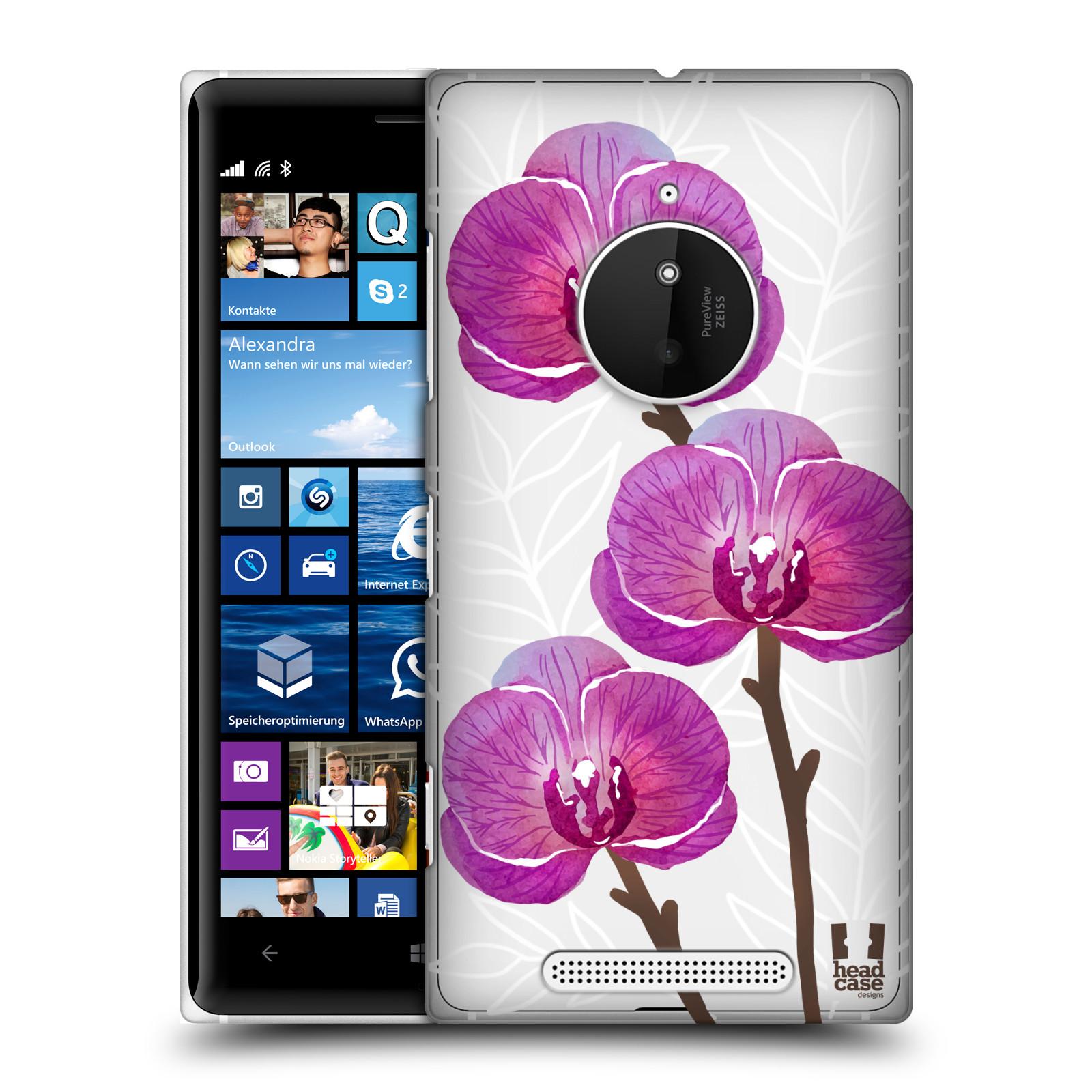 Plastové pouzdro na mobil Nokia Lumia 830 - Head Case - Hezoučké kvítky - průhledné