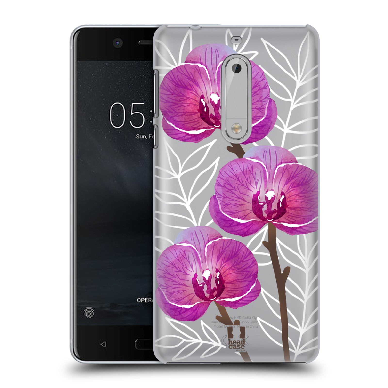Plastové pouzdro na mobil Nokia 5 Head Case - Hezoučké kvítky - průhledné