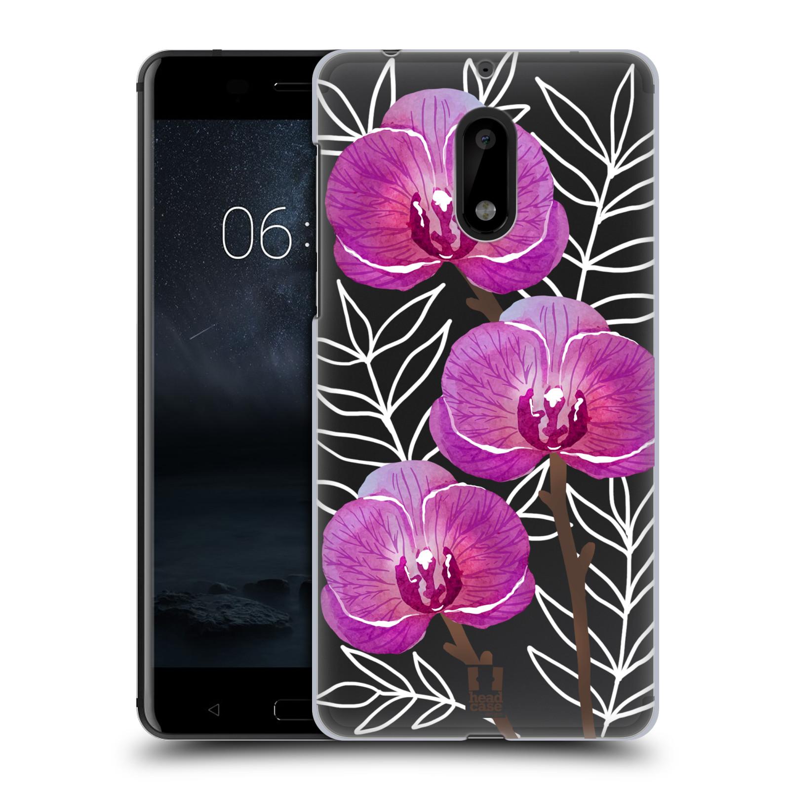 Plastové pouzdro na mobil Nokia 6 - Head Case - Hezoučké kvítky - průhledné