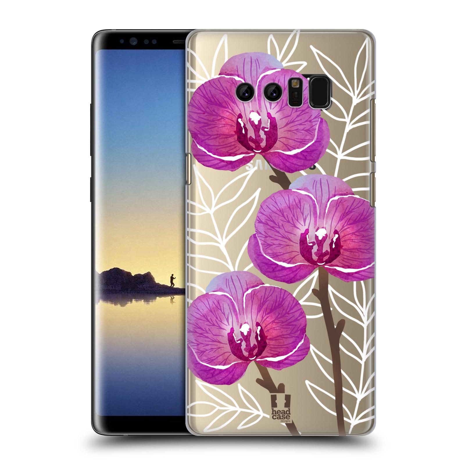 Plastové pouzdro na mobil Samsung Galaxy Note 8 - Head Case - Hezoučké kvítky - průhledné