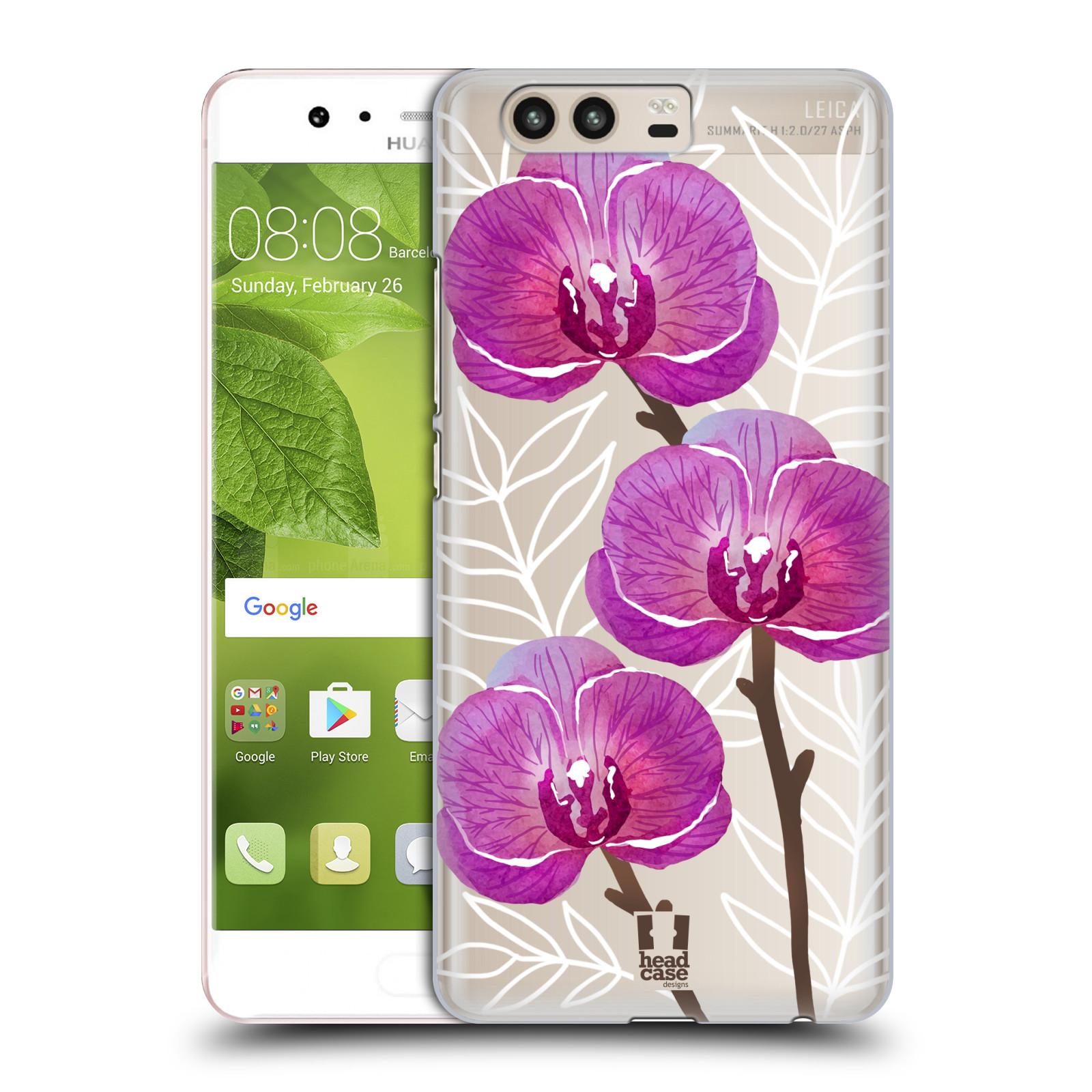 Plastové pouzdro na mobil Huawei P10 - Head Case - Hezoučké kvítky - průhledné (Plastový kryt či obal na mobilní telefon s motivem hezoučkých kvítků pro Huawei P10 (Dual SIM))