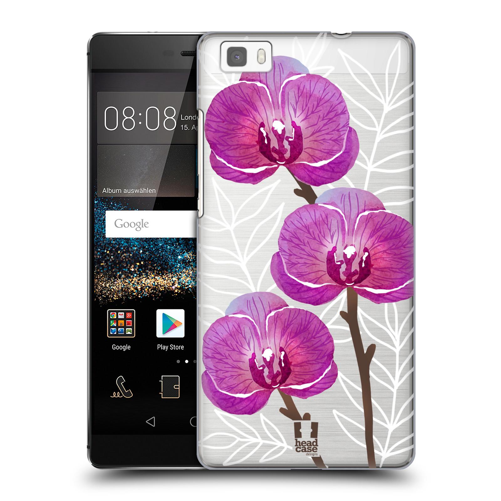 Plastové pouzdro na mobil Huawei P8 Lite - Head Case - Hezoučké kvítky - průhledné