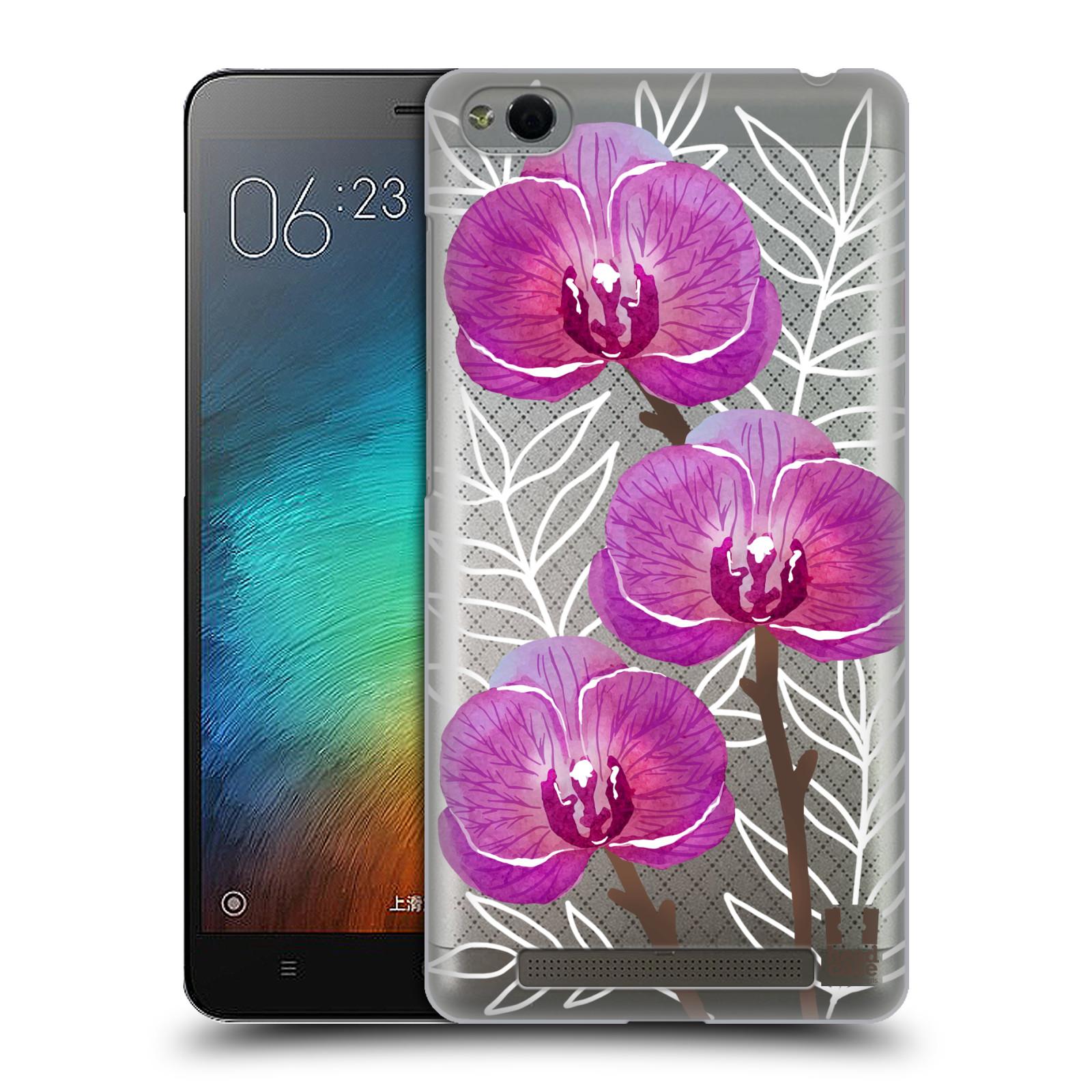 Plastové pouzdro na mobil Xiaomi Redmi 3 - Head Case - Hezoučké kvítky - průhledné