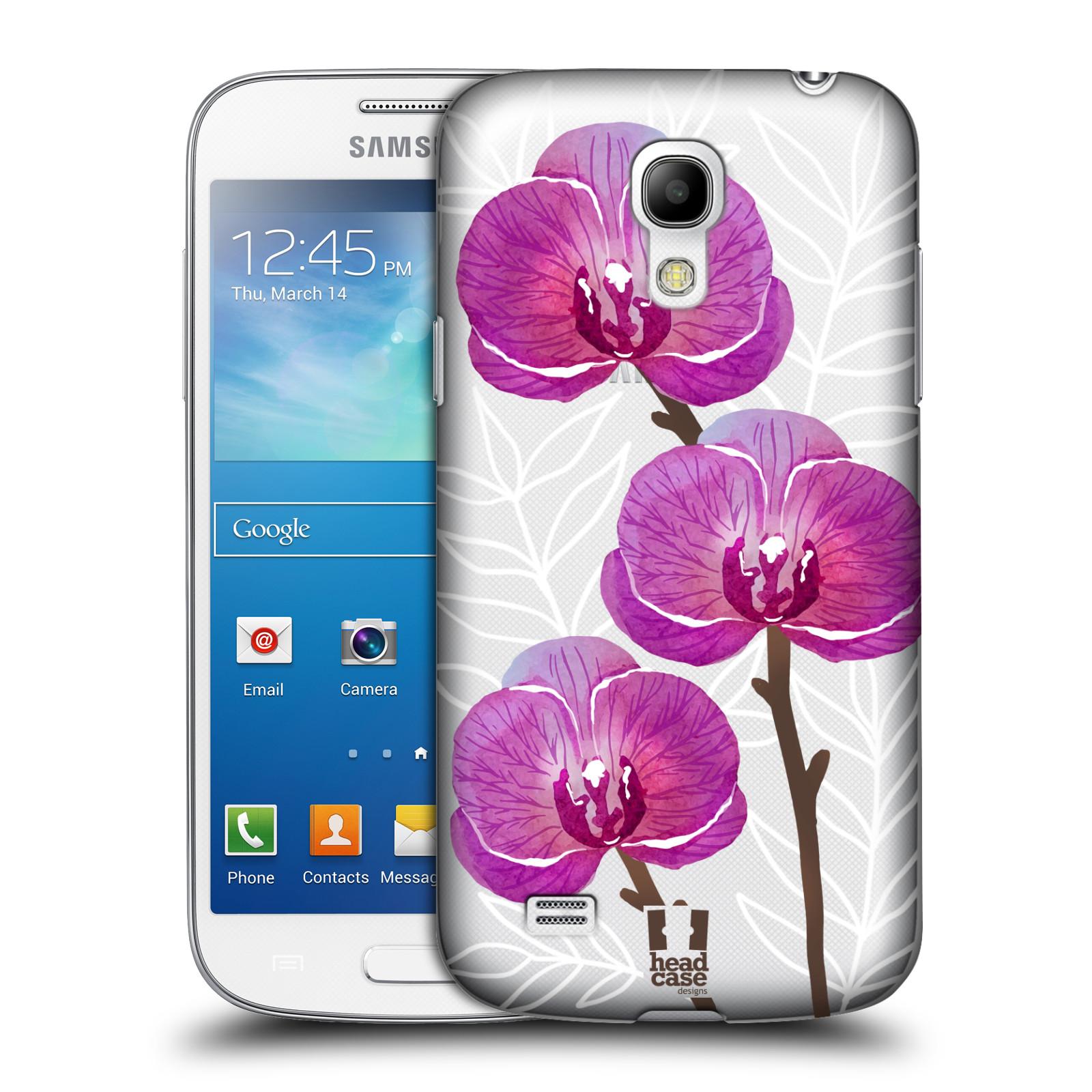 Plastové pouzdro na mobil Samsung Galaxy S4 Mini - Head Case - Hezoučké kvítky - průhledné