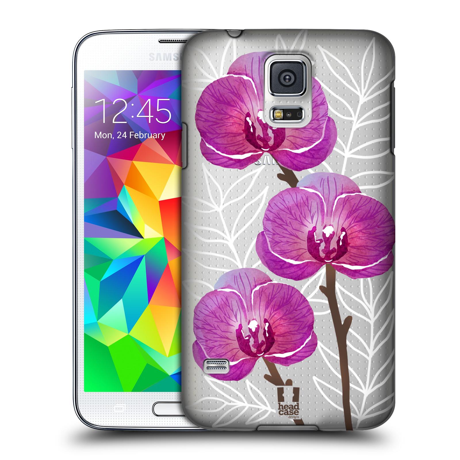 Plastové pouzdro na mobil Samsung Galaxy S5 - Head Case - Hezoučké kvítky - průhledné