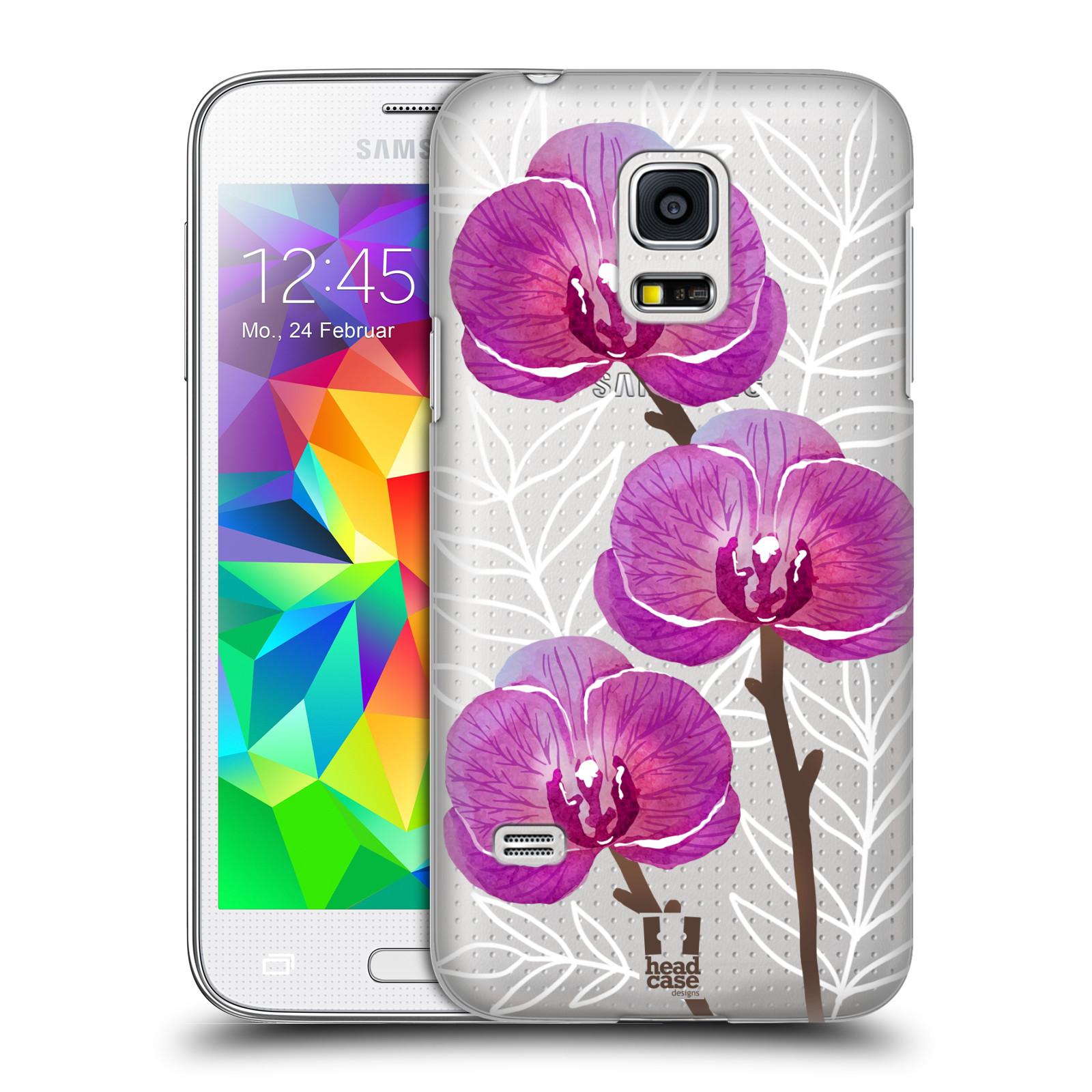 Plastové pouzdro na mobil Samsung Galaxy S5 Mini - Head Case - Hezoučké kvítky - průhledné