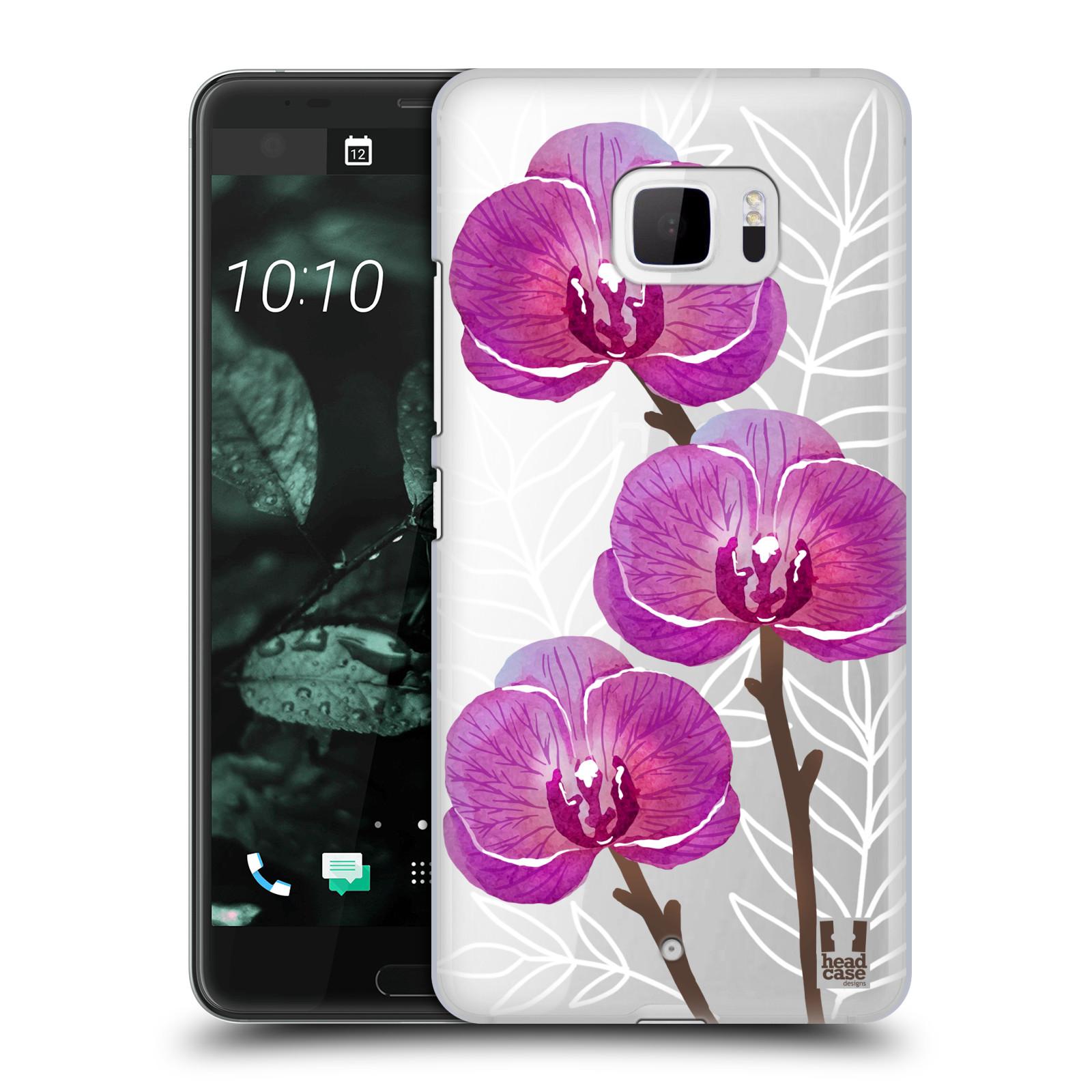 Plastové pouzdro na mobil HTC U Ultra Head Case - Hezoučké kvítky - průhledné