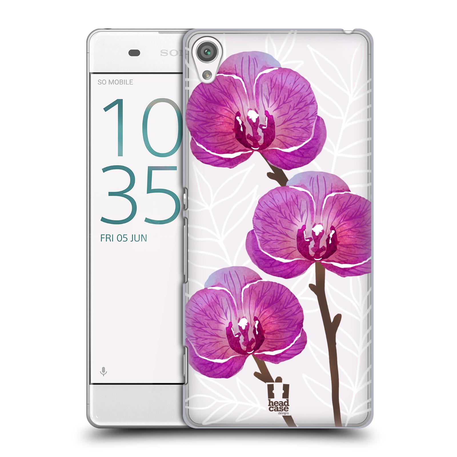 Plastové pouzdro na mobil Sony Xperia XA - Head Case - Hezoučké kvítky - průhledné