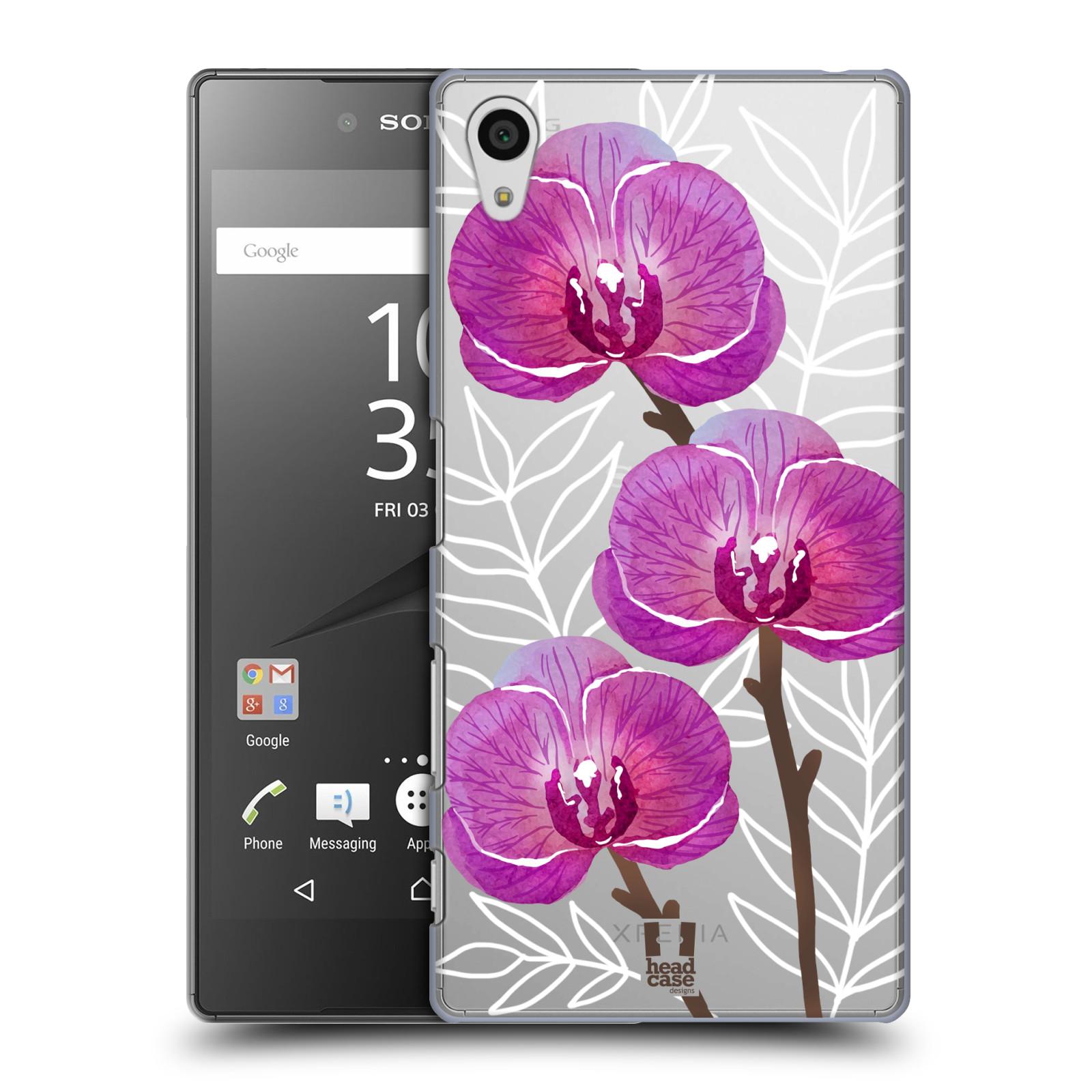 Plastové pouzdro na mobil Sony Xperia Z5 - Head Case - Hezoučké kvítky - průhledné