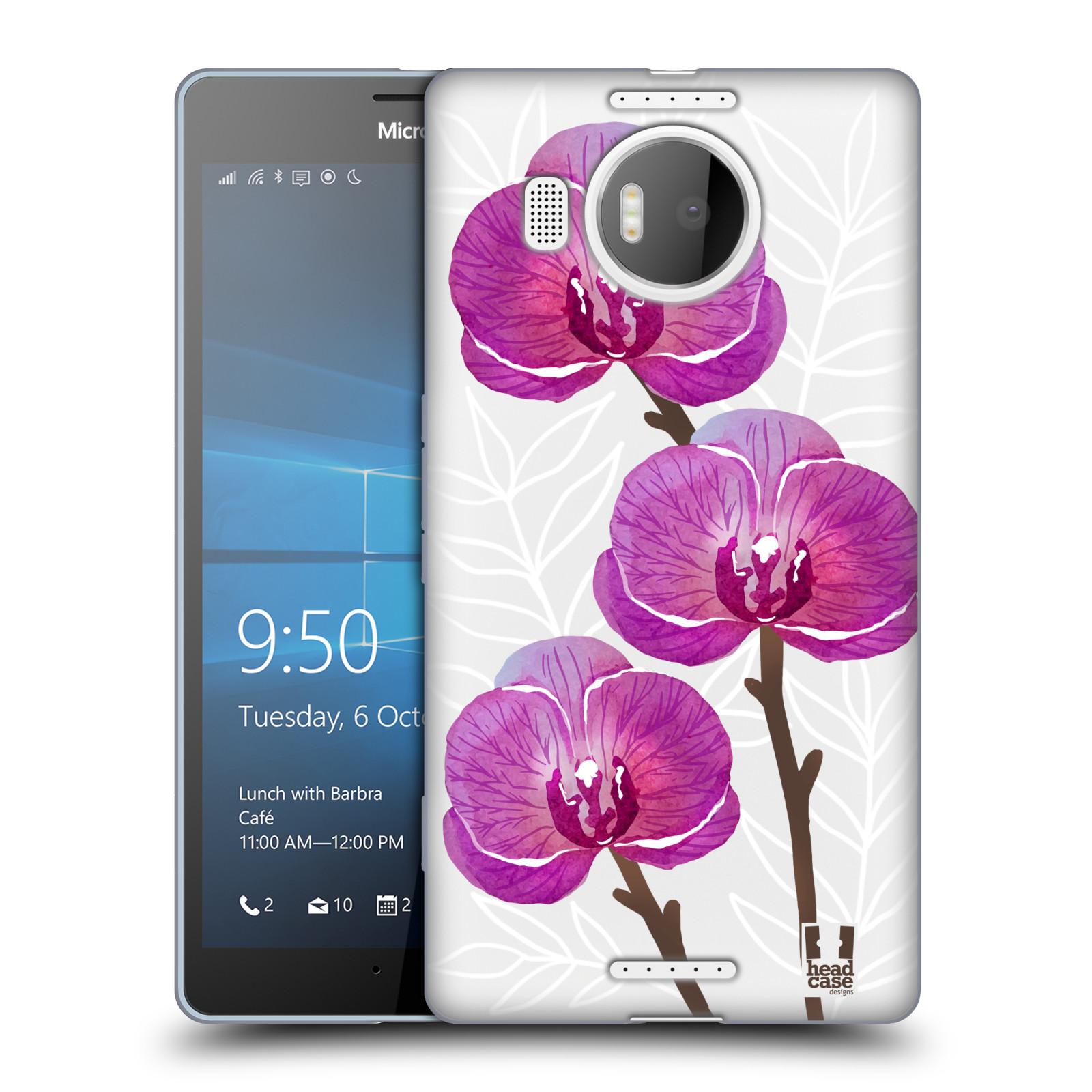 Silikonové pouzdro na mobil Microsoft Lumia 950 XL - Head Case - Hezoučké kvítky - průhledné