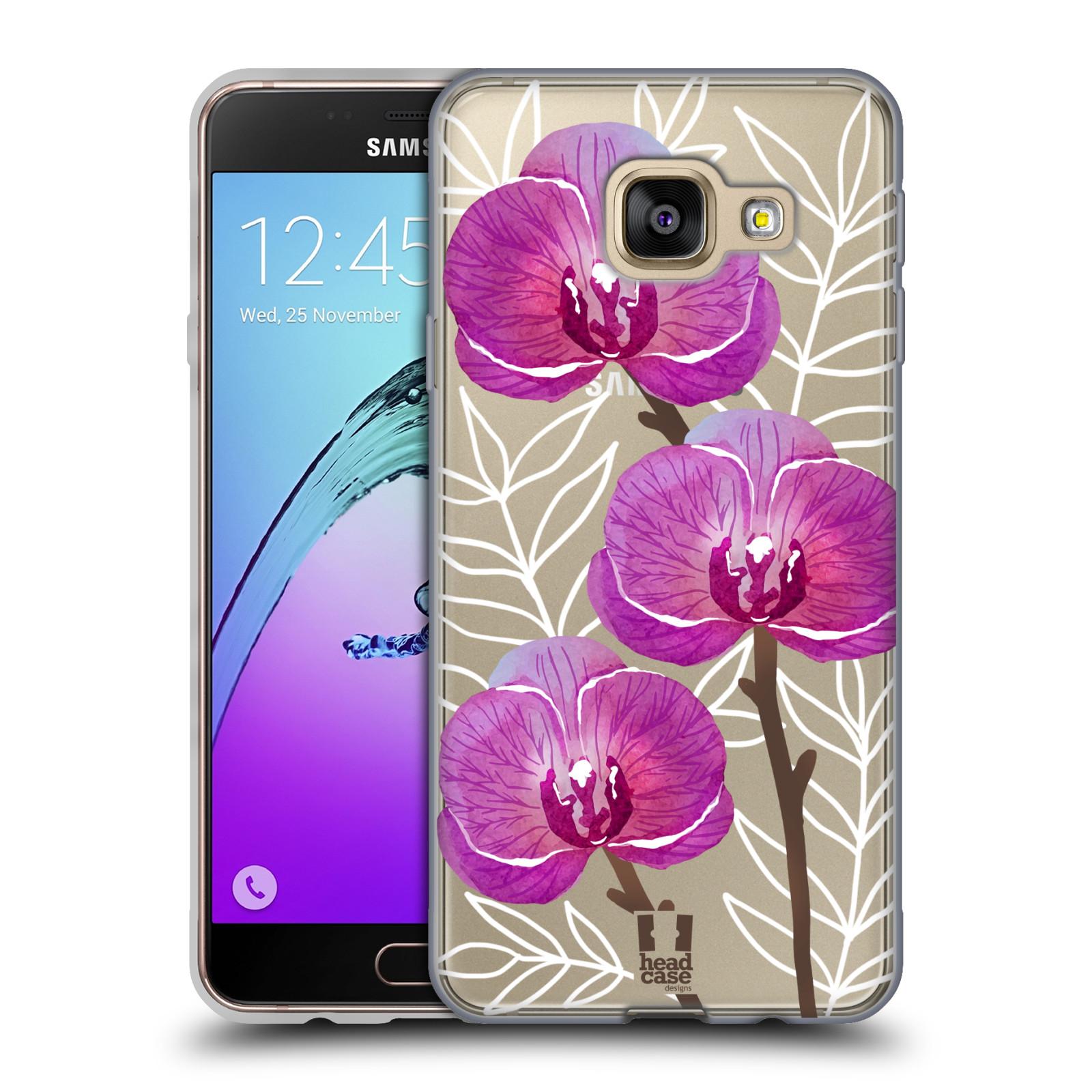 Silikonové pouzdro na mobil Samsung Galaxy A3 (2016) - Head Case - Hezoučké kvítky - průhledné