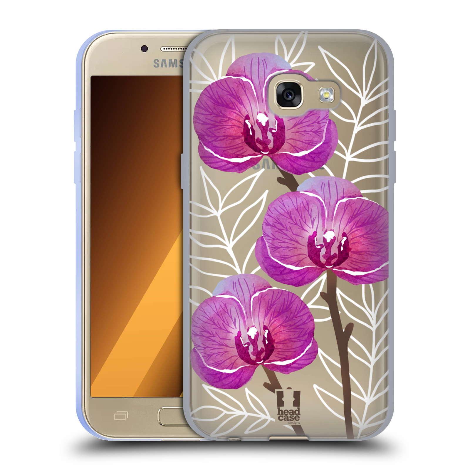 Silikonové pouzdro na mobil Samsung Galaxy A3 (2017) - Head Case - Hezoučké kvítky - průhledné
